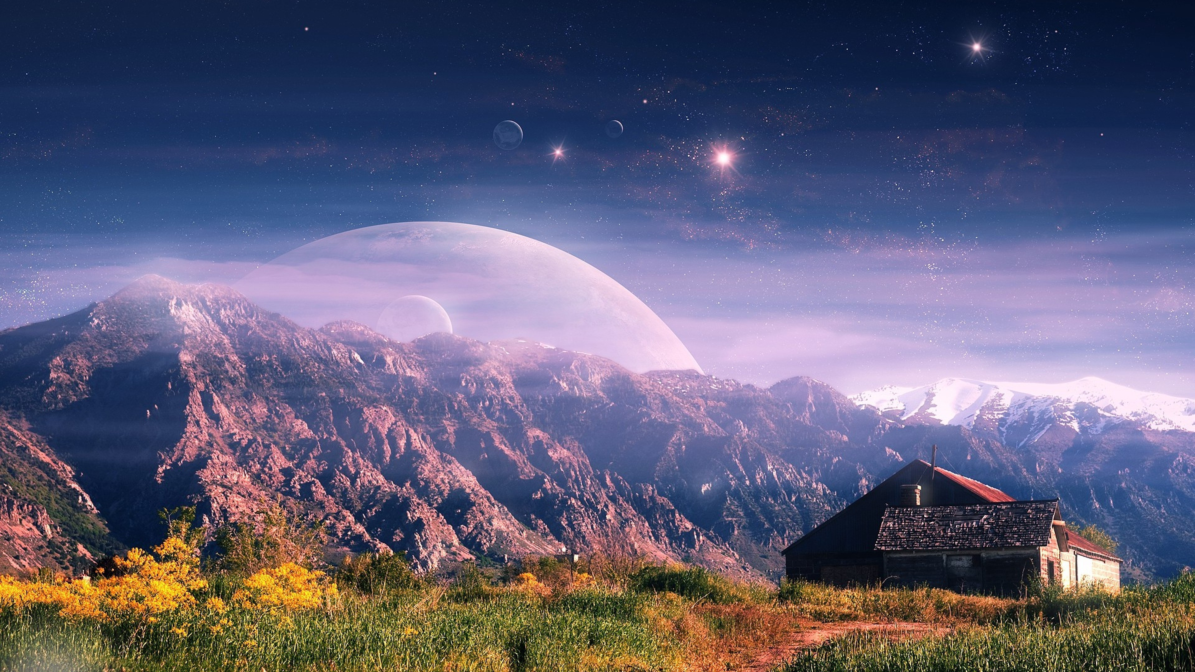 Must see Wallpaper Mountain Nokia - mountain-house-fantasy  Trends_856621.jpg