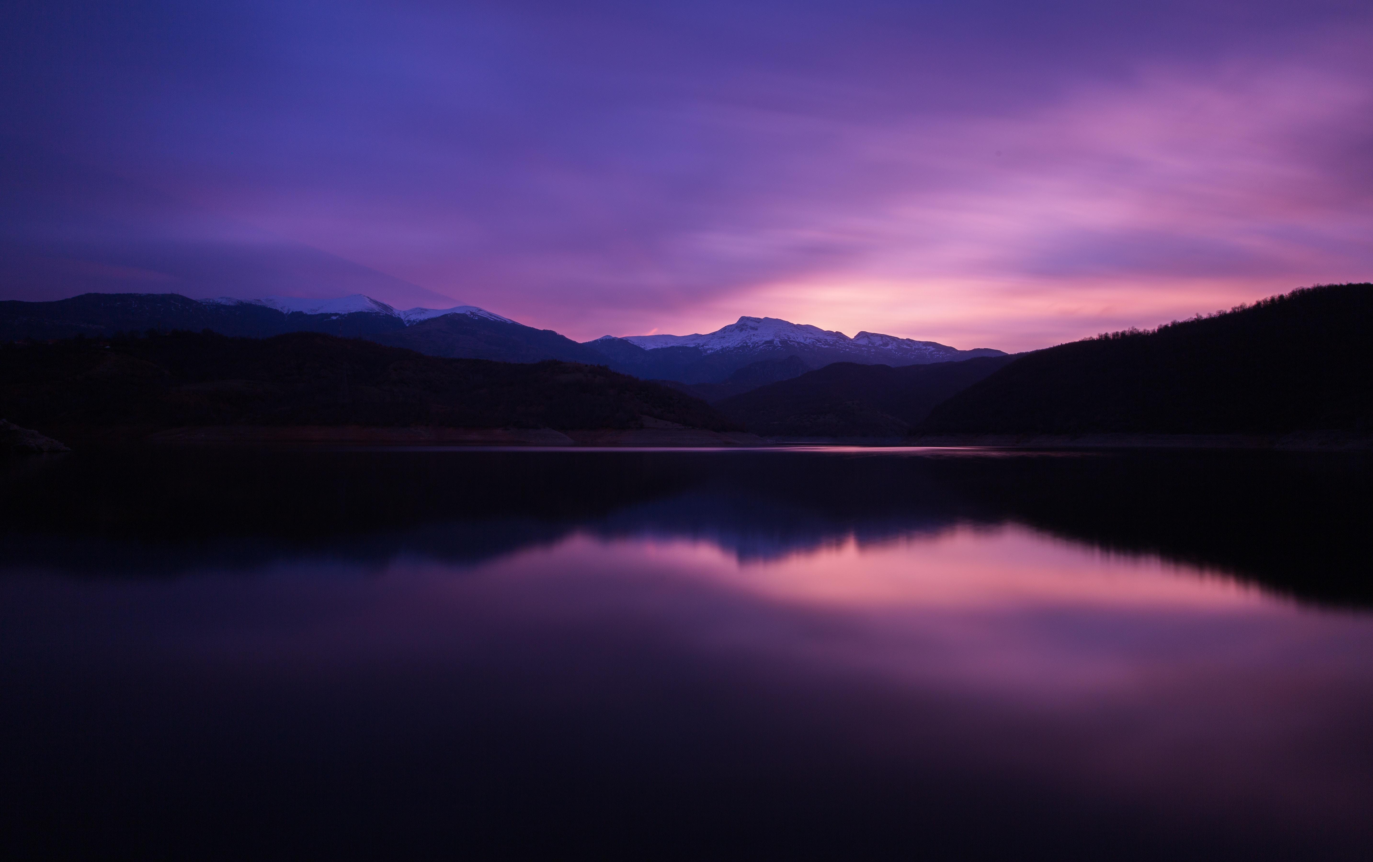 Mountain Lake Night Reflection 5k Hd Nature 4k