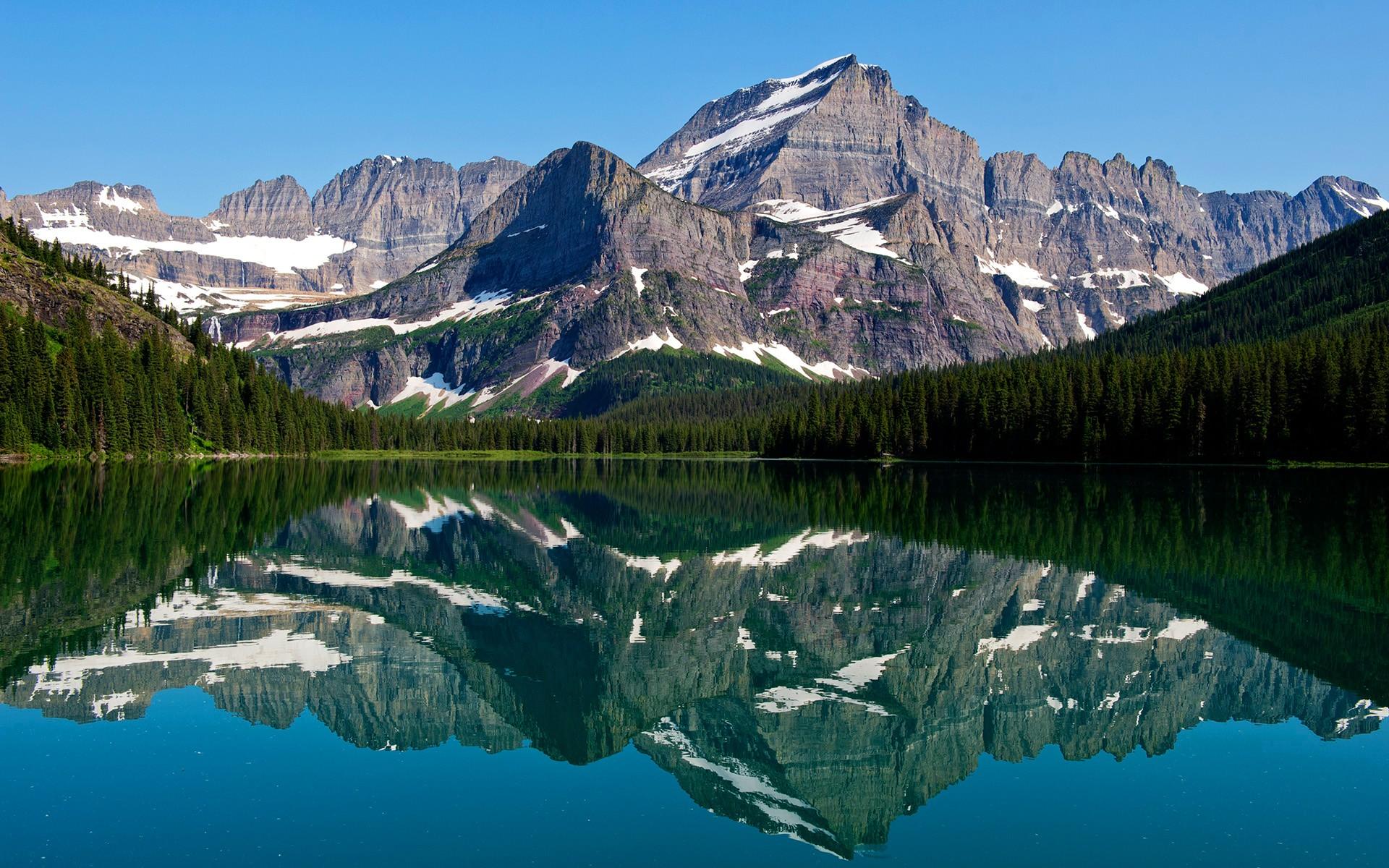 Lake Mountain Reflection Minimalism Wallpapers Hd: Mountain Lake Reflections, HD Nature, 4k Wallpapers