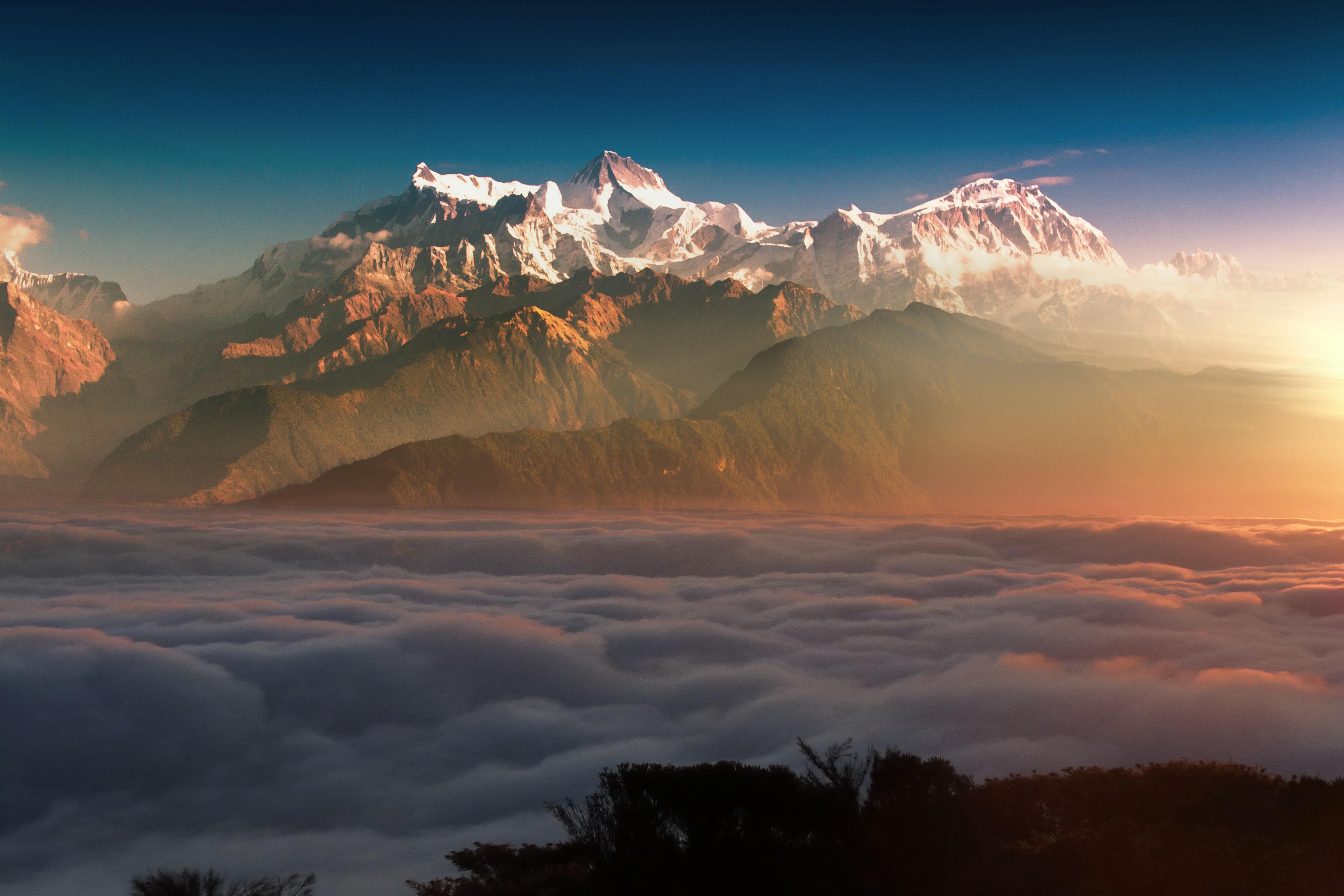 1920x1080 Mountain Landscape Clouds 8k Laptop Full HD ...