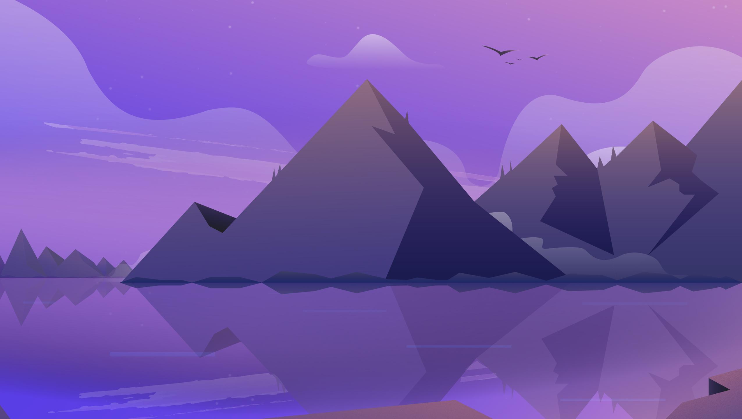 Mountain Landscape Illustration Hd Artist 4k Wallpapers