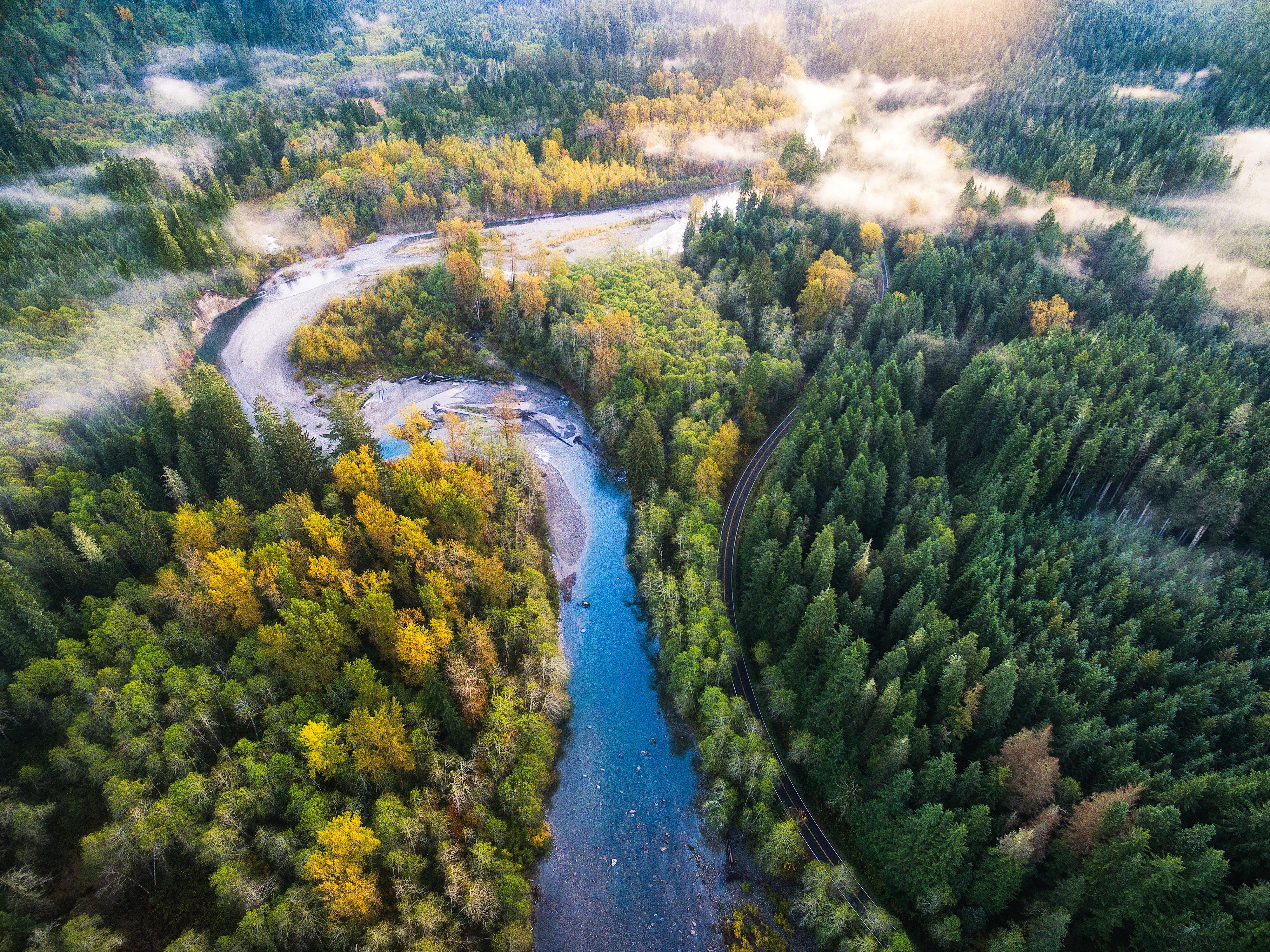 Mountain Loop Aerial View 4k, HD Nature, 4k Wallpapers ...