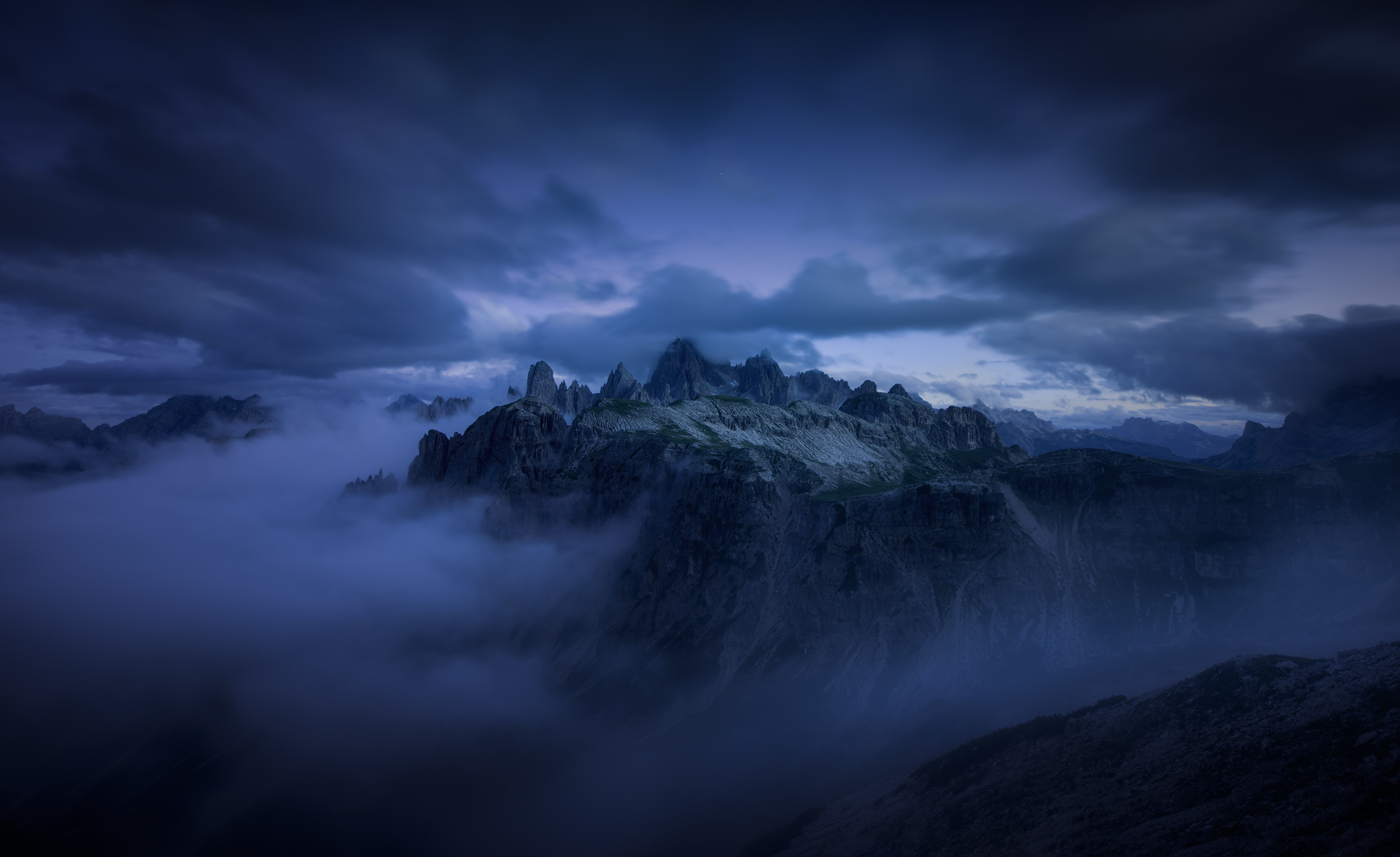 Mountains Cliff Covered Under Fog Mist 5k, HD Nature, 4k ...