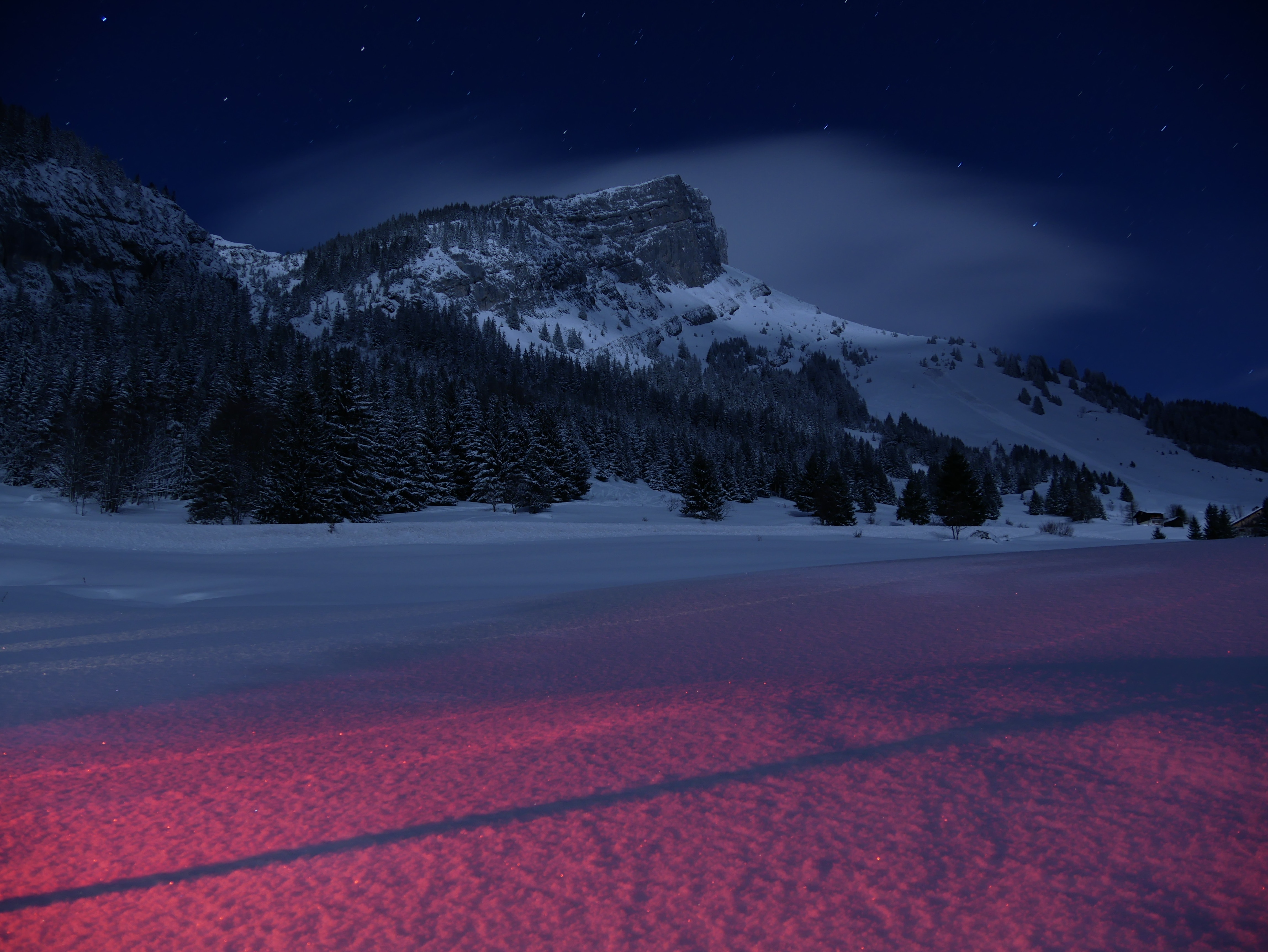 Mountains landscape night snow 5k hd nature 4k - Night mountain wallpaper 4k ...
