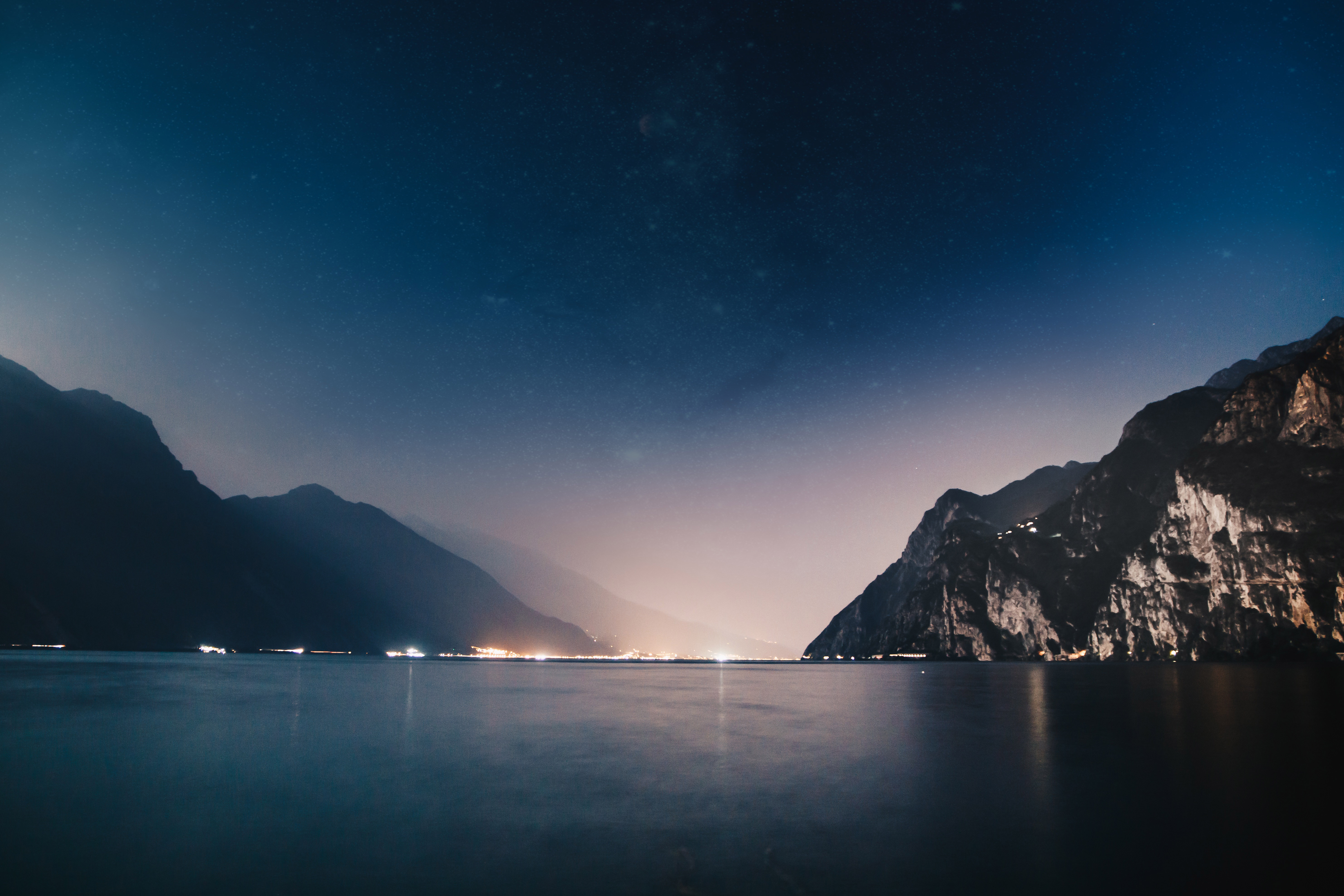 Mountains night sea 4k 5k hd nature 4k wallpapers - Night mountain wallpaper 4k ...