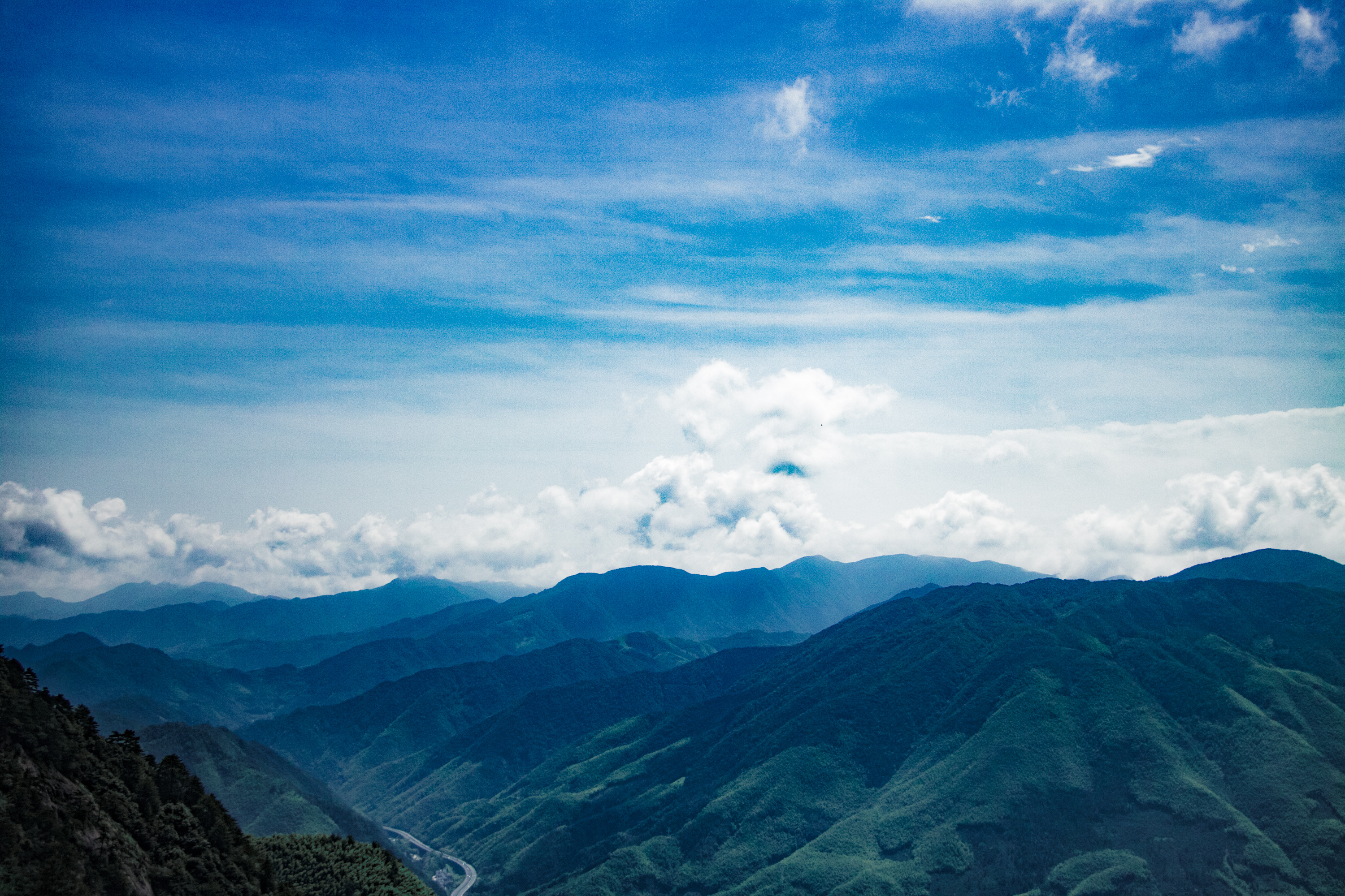 Mountains Peaks Clouds 4k, HD Nature, 4k Wallpapers
