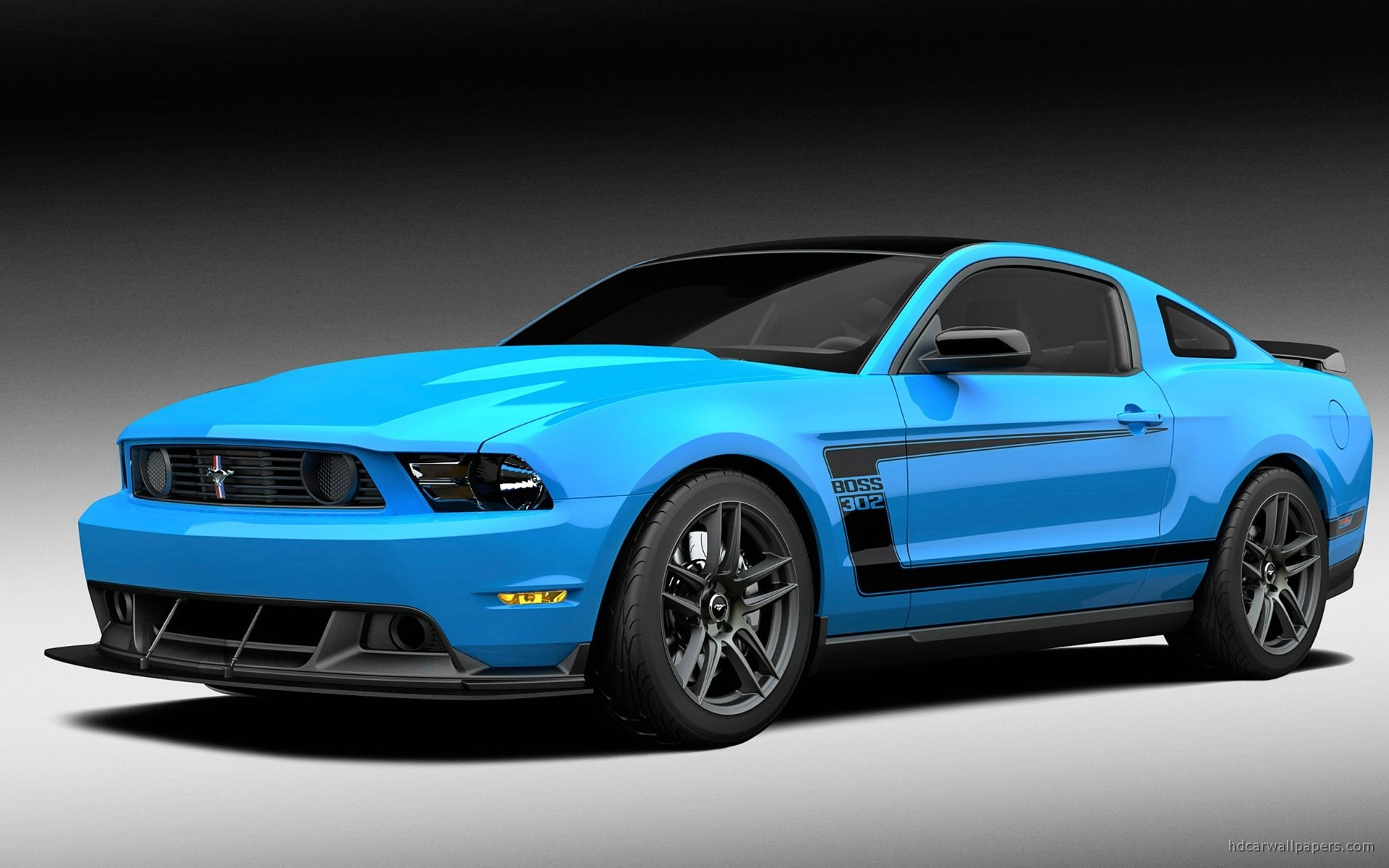 Muscle Blue Car