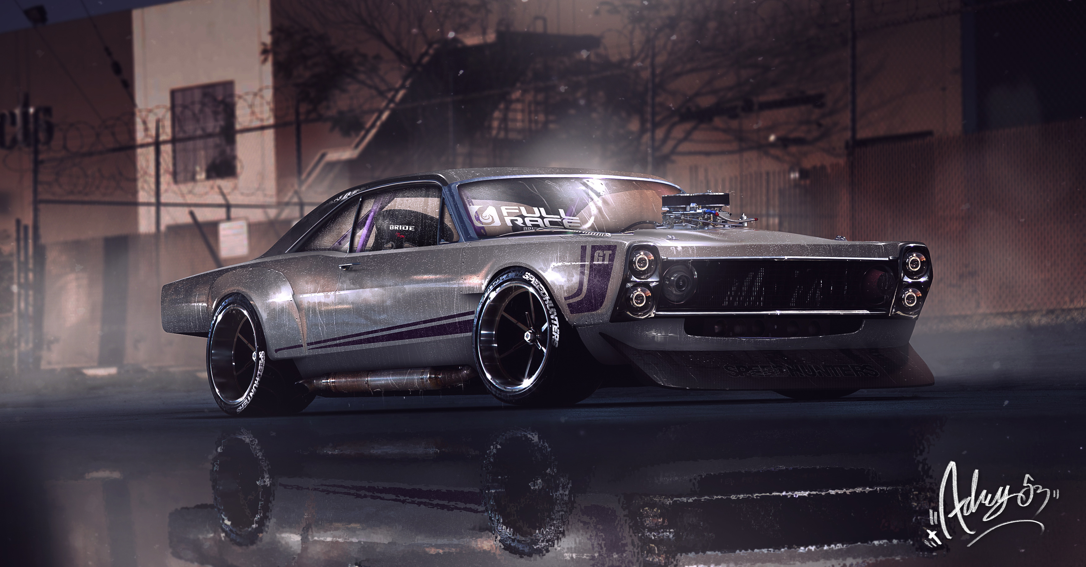 1366x768 Muscle Car Graphical Art 1366x768 Resolution Hd 4k