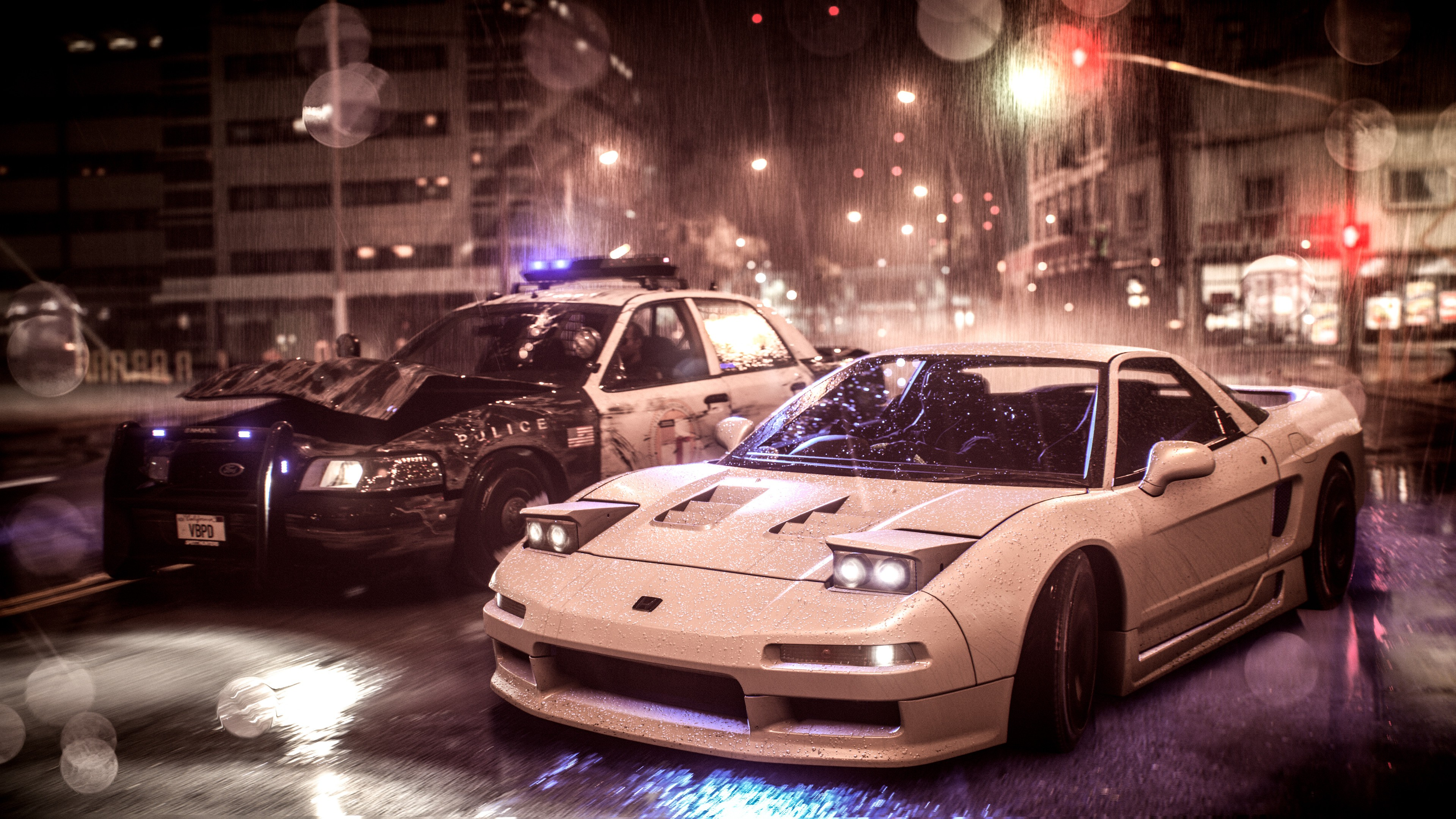 Need For Speed Acura Nsx Vs Police Car 4k, HD Games, 4k