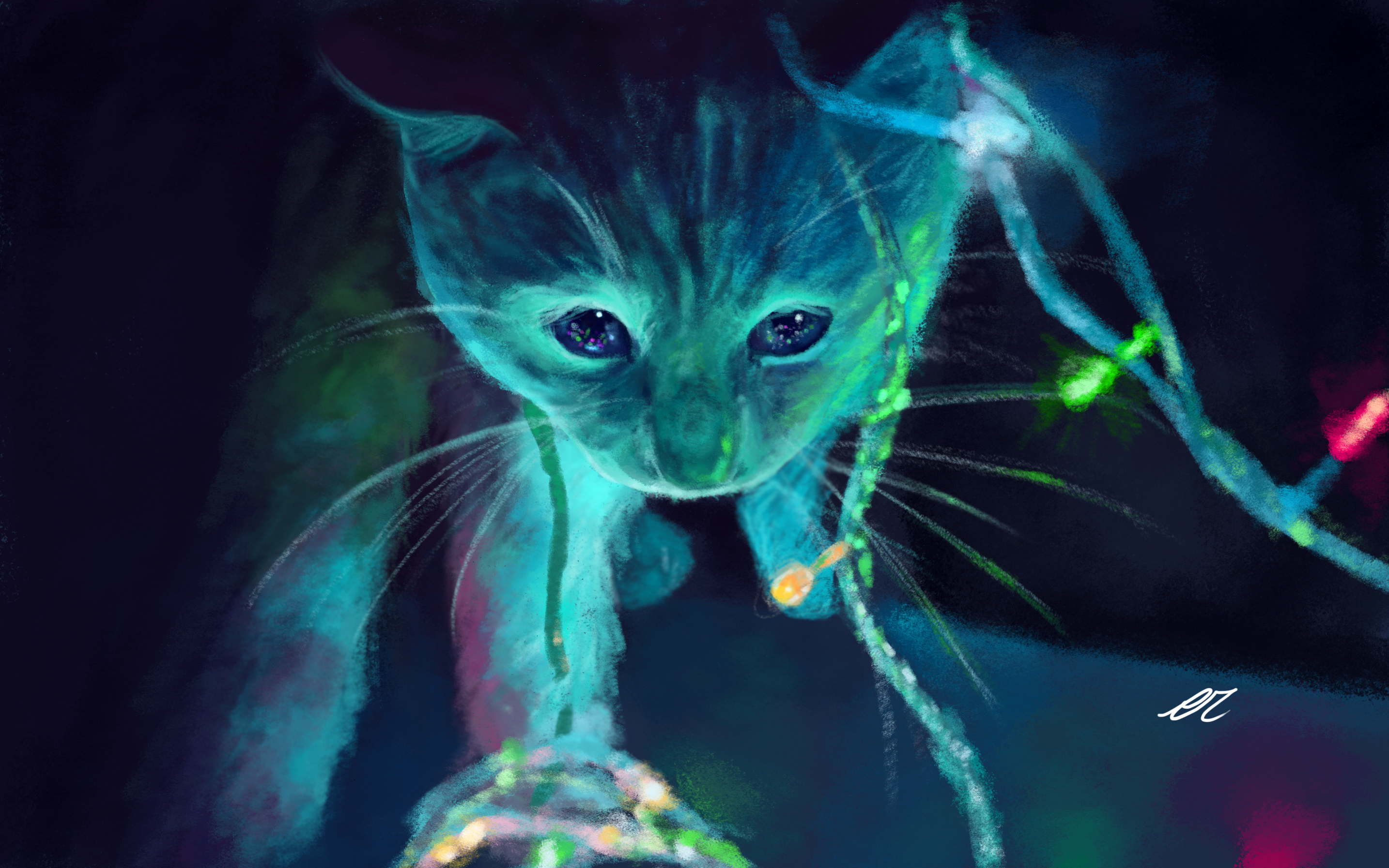 Neon Cat Artwork Hd Artist 4k Wallpapers Images Backgrounds