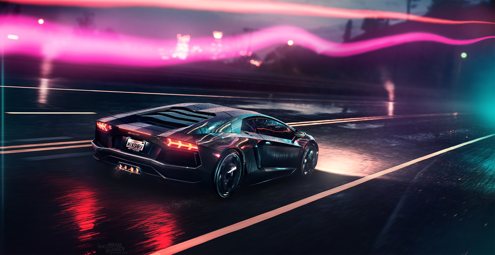 Neon Car Wallpaper 4k