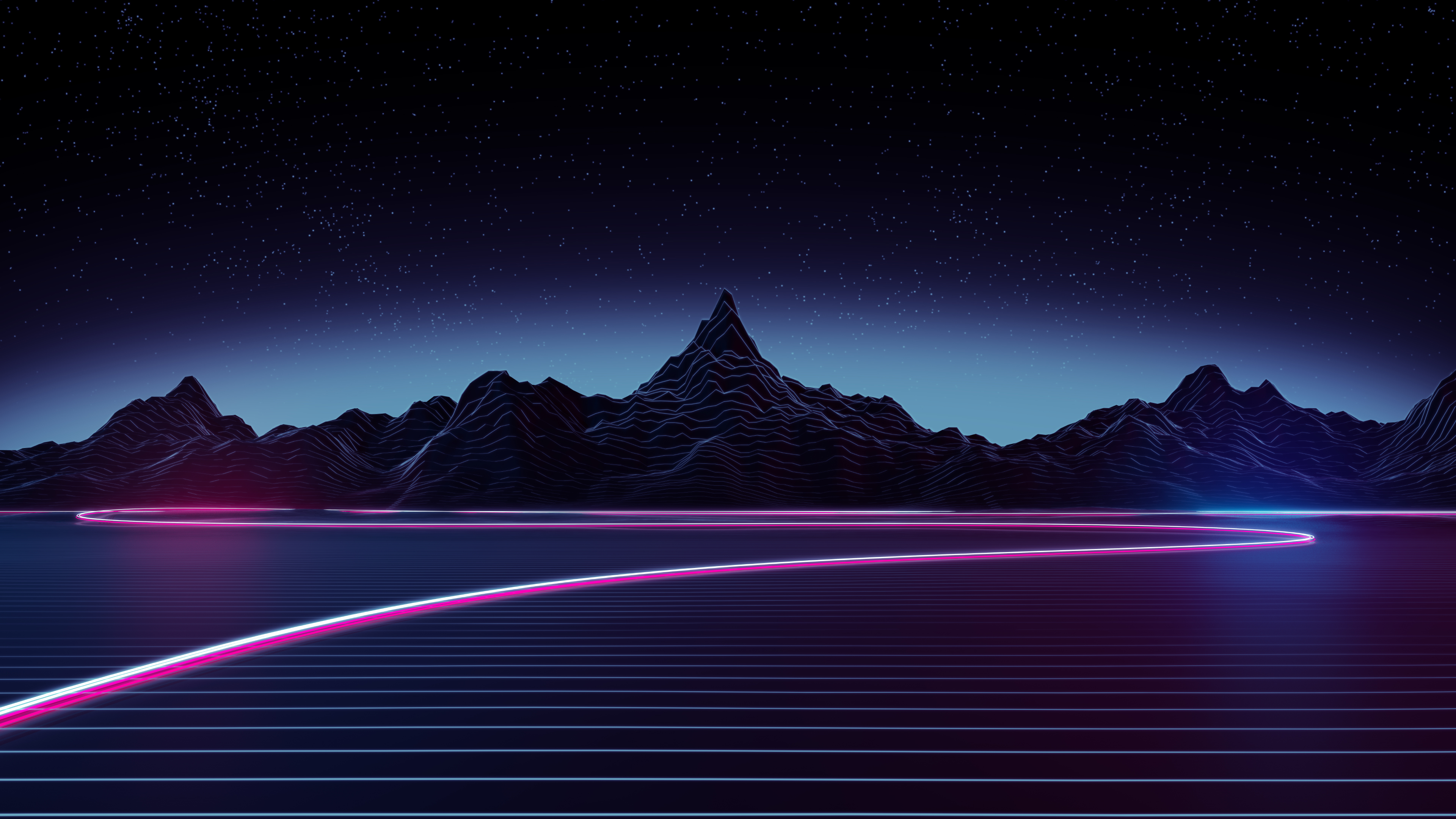 2048x1152 neon highway 4k 2048x1152 resolution hd 4k - Desktop wallpaper 4k ...
