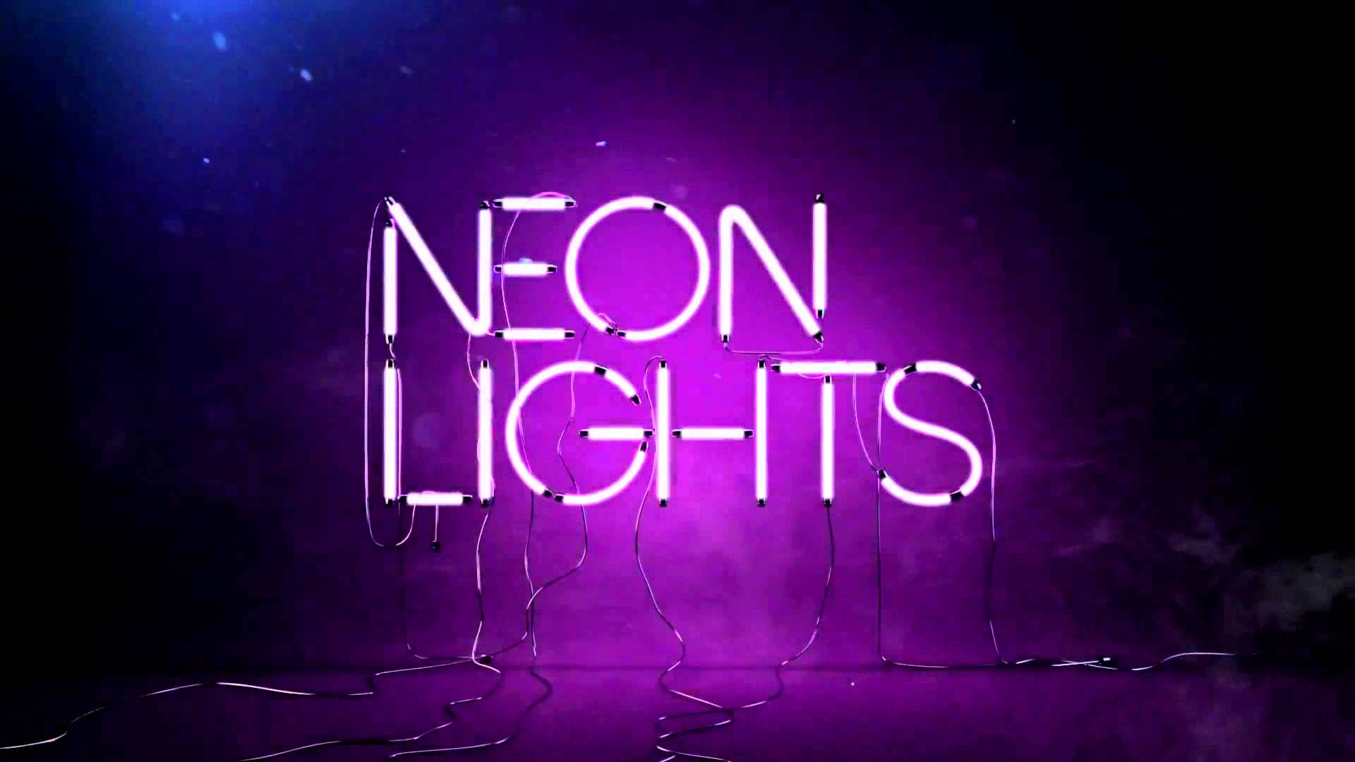 Neon Lights Wide Demi Lovato