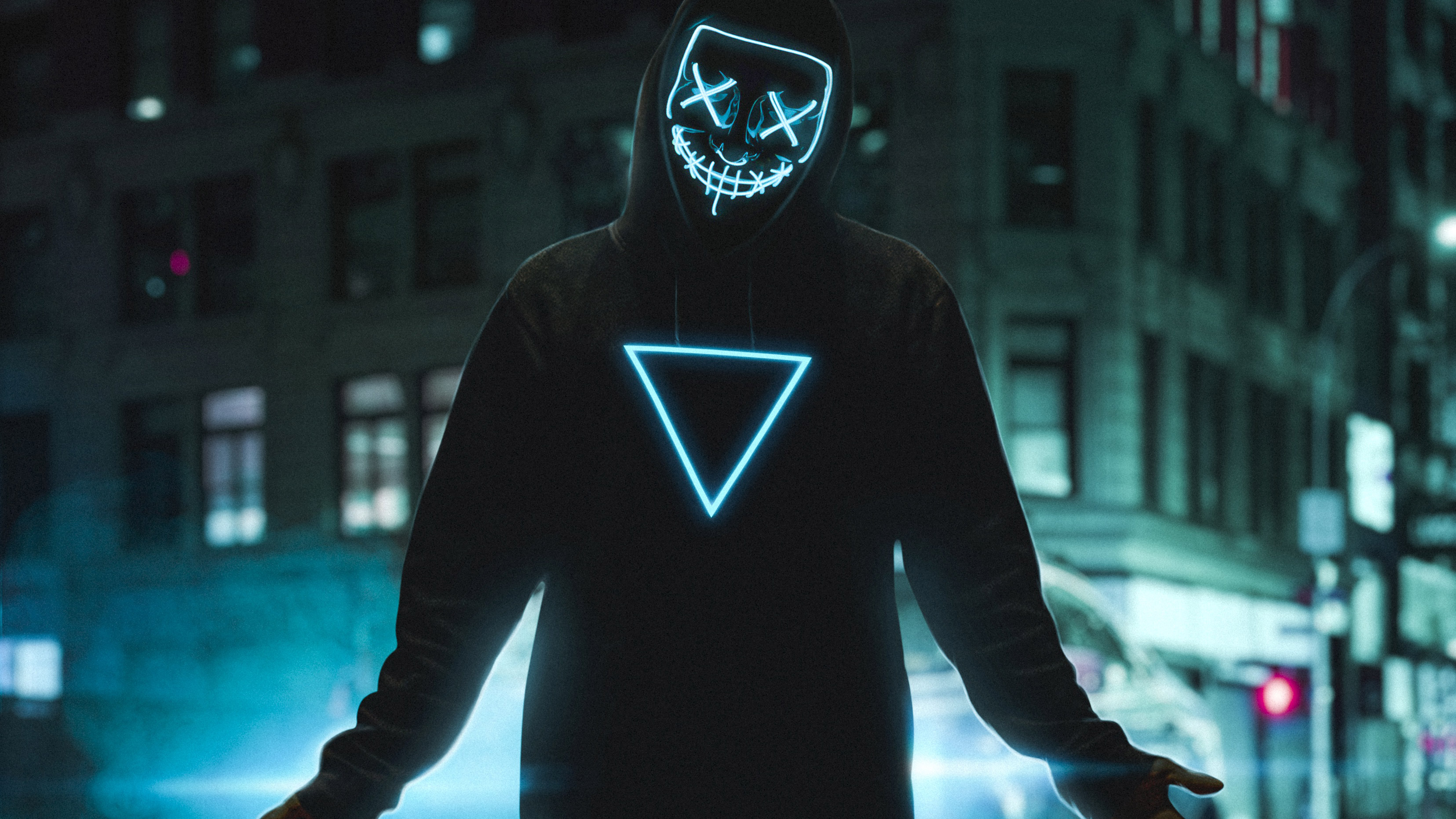 Neon Mask Boy 4k, HD Photography, 4k Wallpapers, Images ...