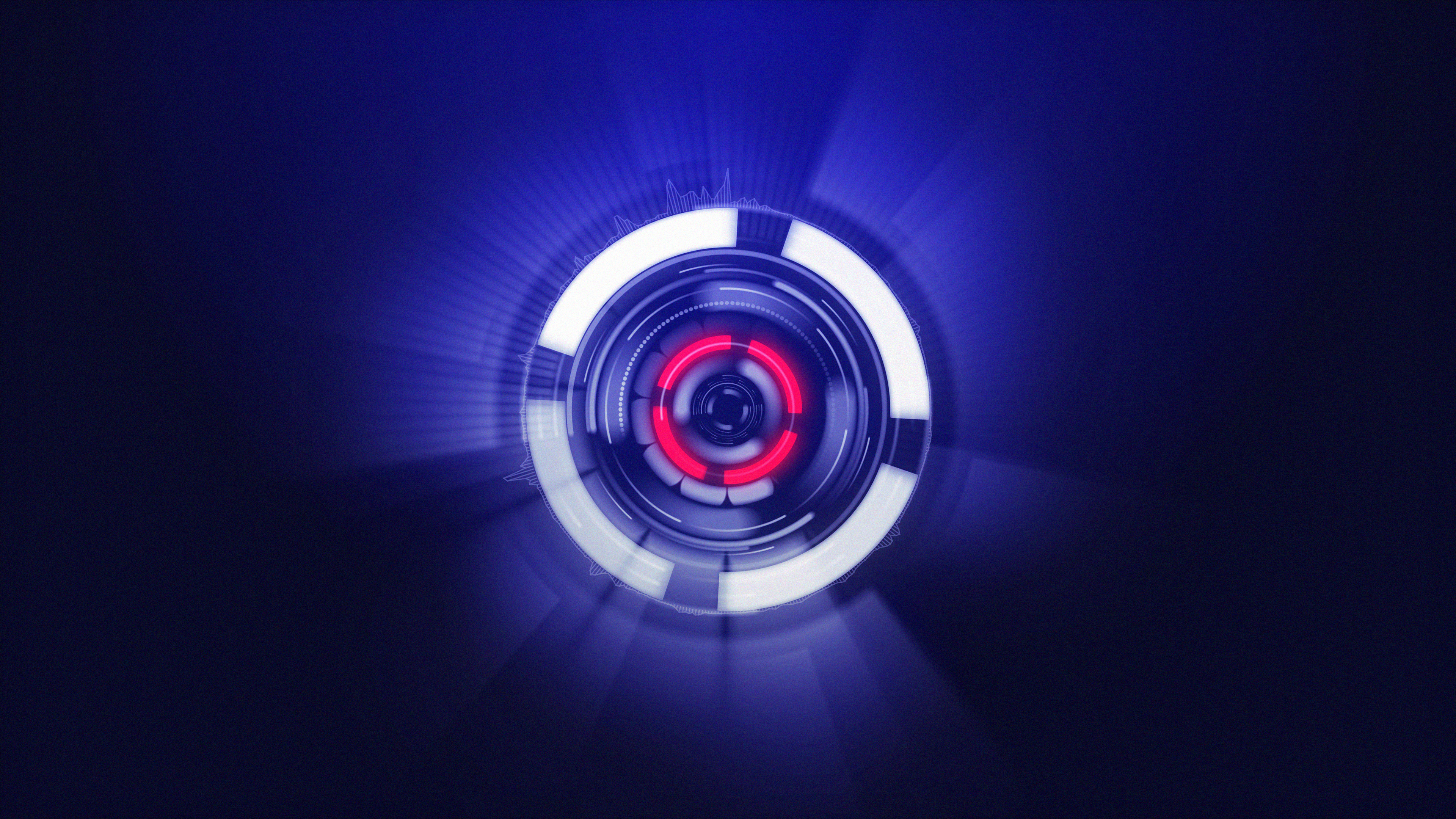 Neon Sphere Red Blue Purple 4k Hd Abstract 4k Wallpapers