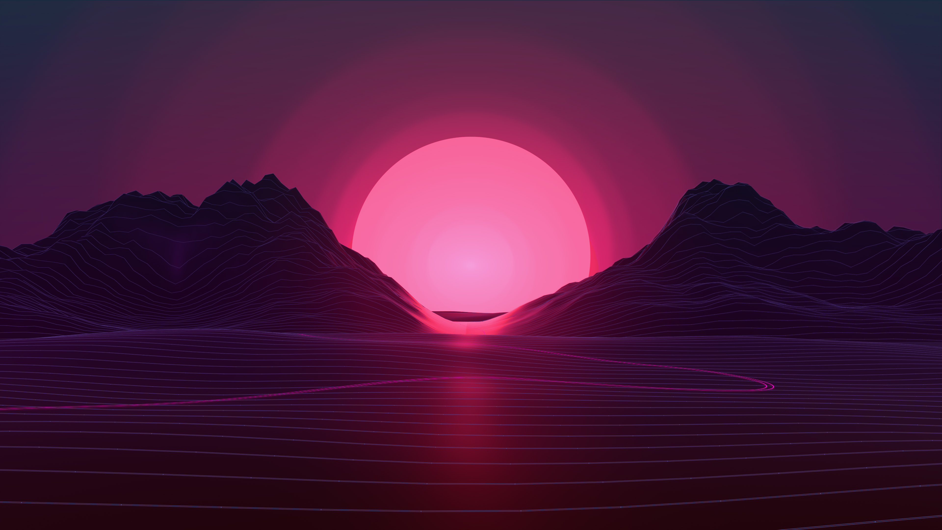 Neon Sunset 4k HD Artist Wallpapers Images Backgrounds