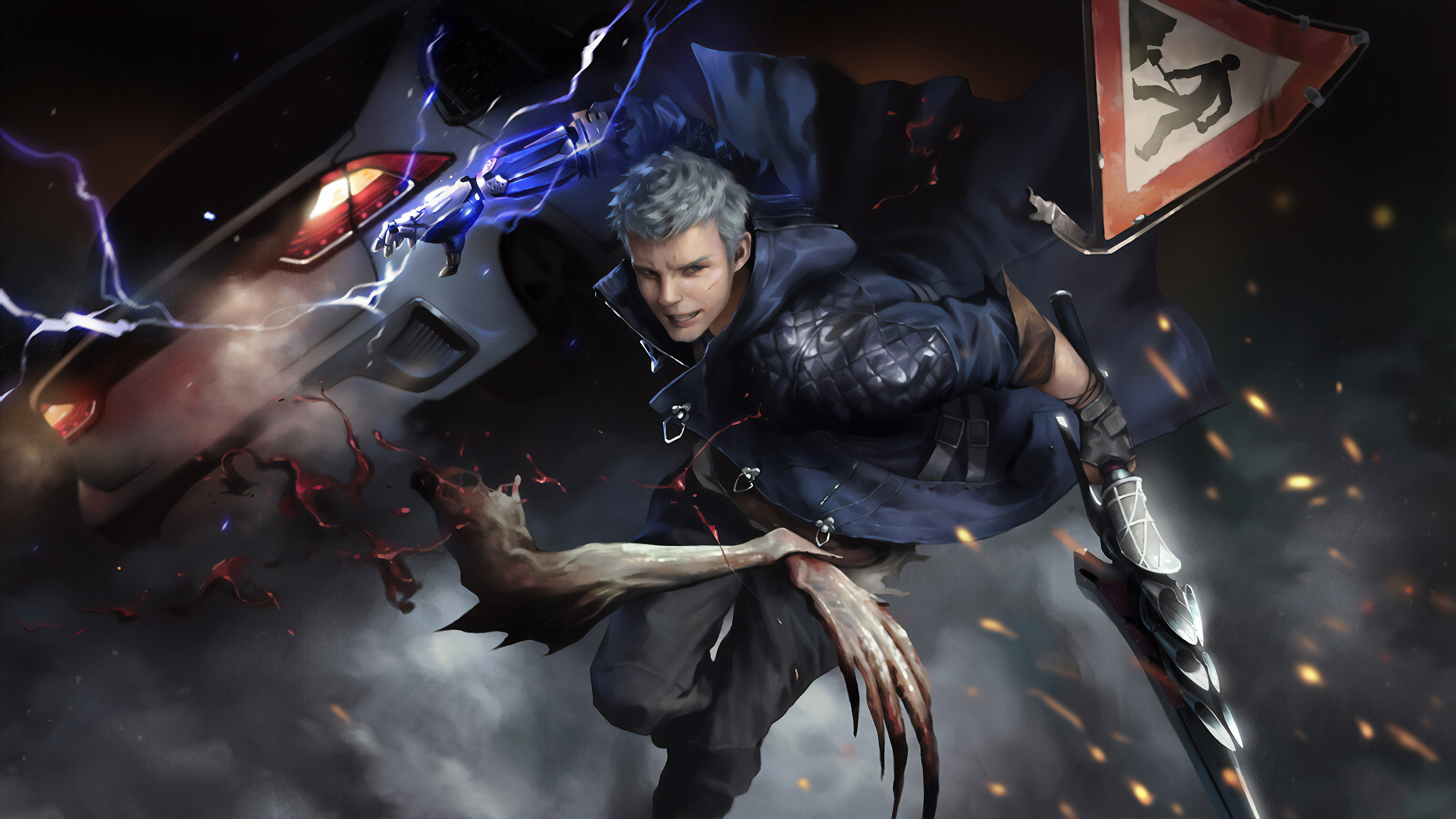 1400x900 Nero In Devil May Cry 5 4k Art 1400x900 Resolution