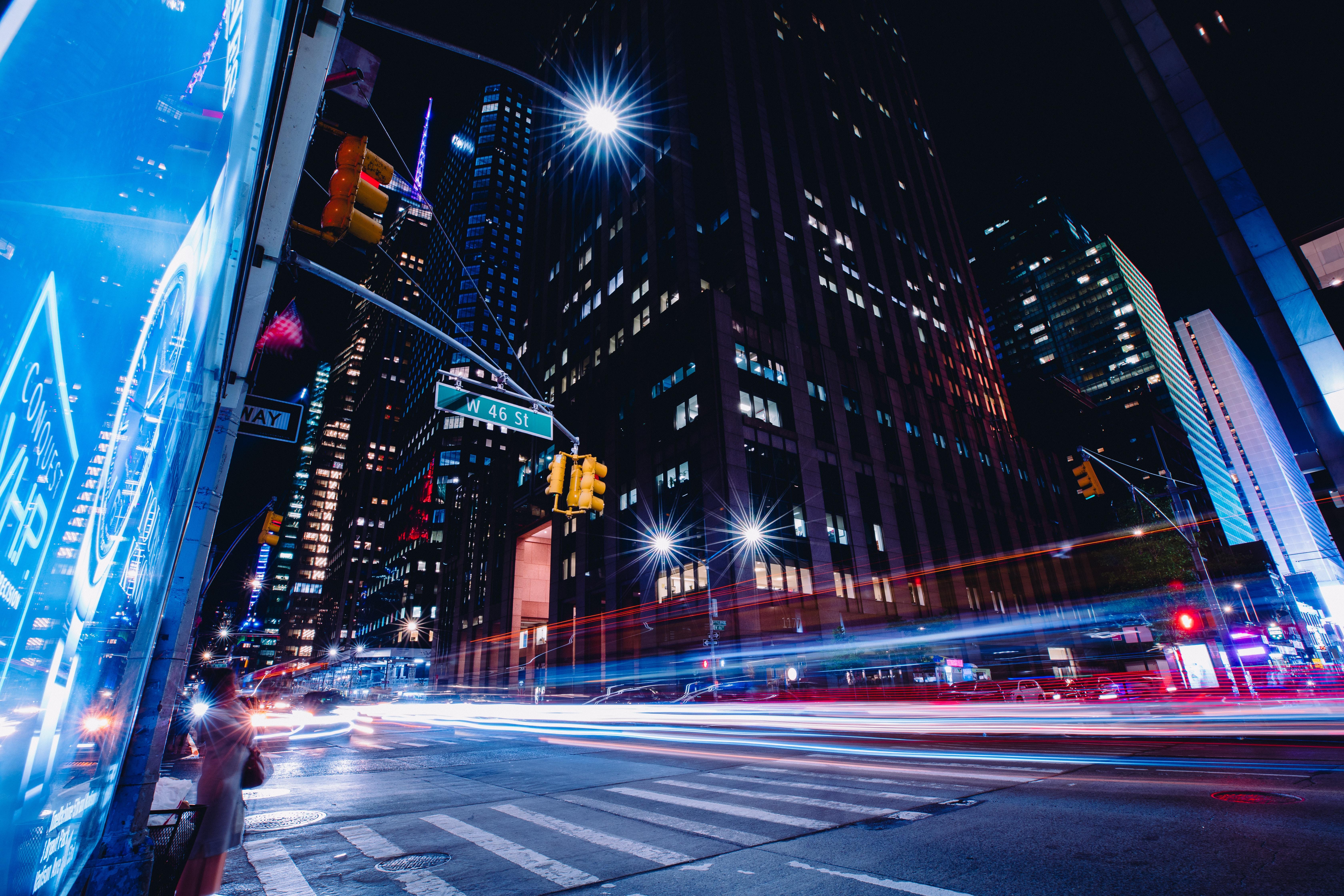 New York City Street Long Exposure, HD World, 4k ...