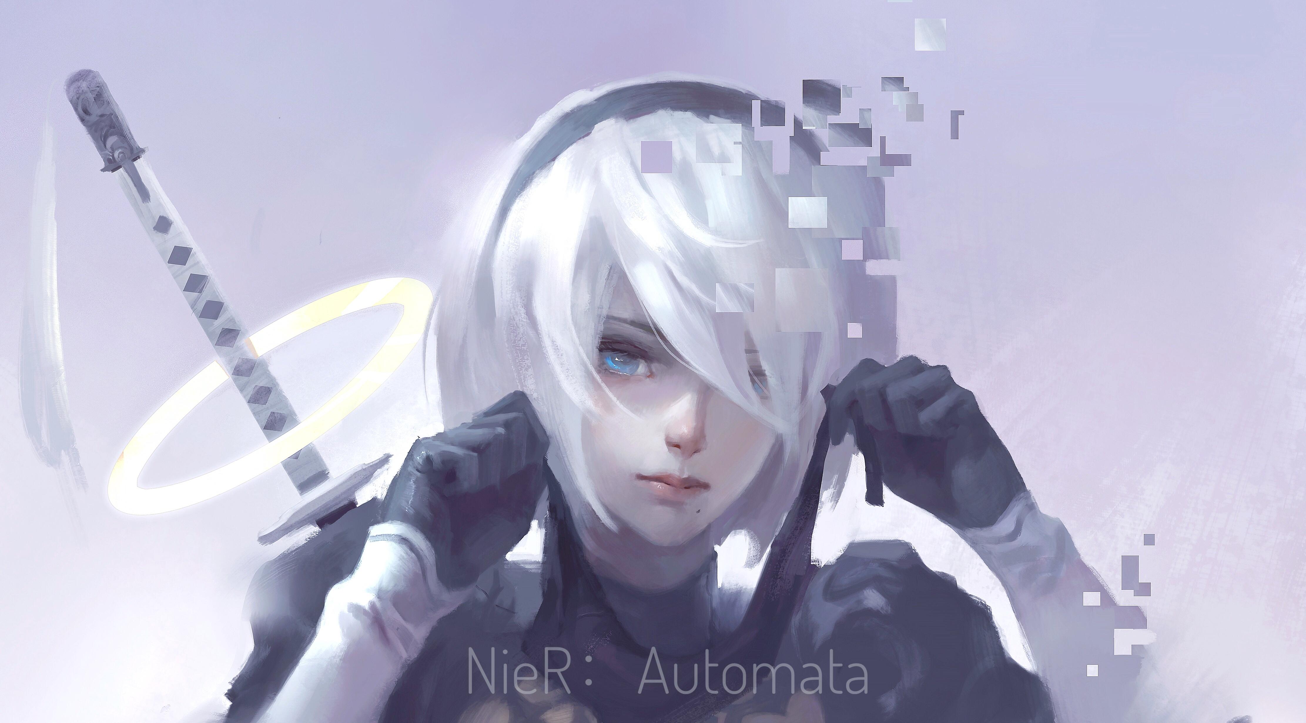 2b Nier Automata Katana Hd 4k Wallpaper: Nier Automata 4k Artworks, HD Anime, 4k Wallpapers, Images