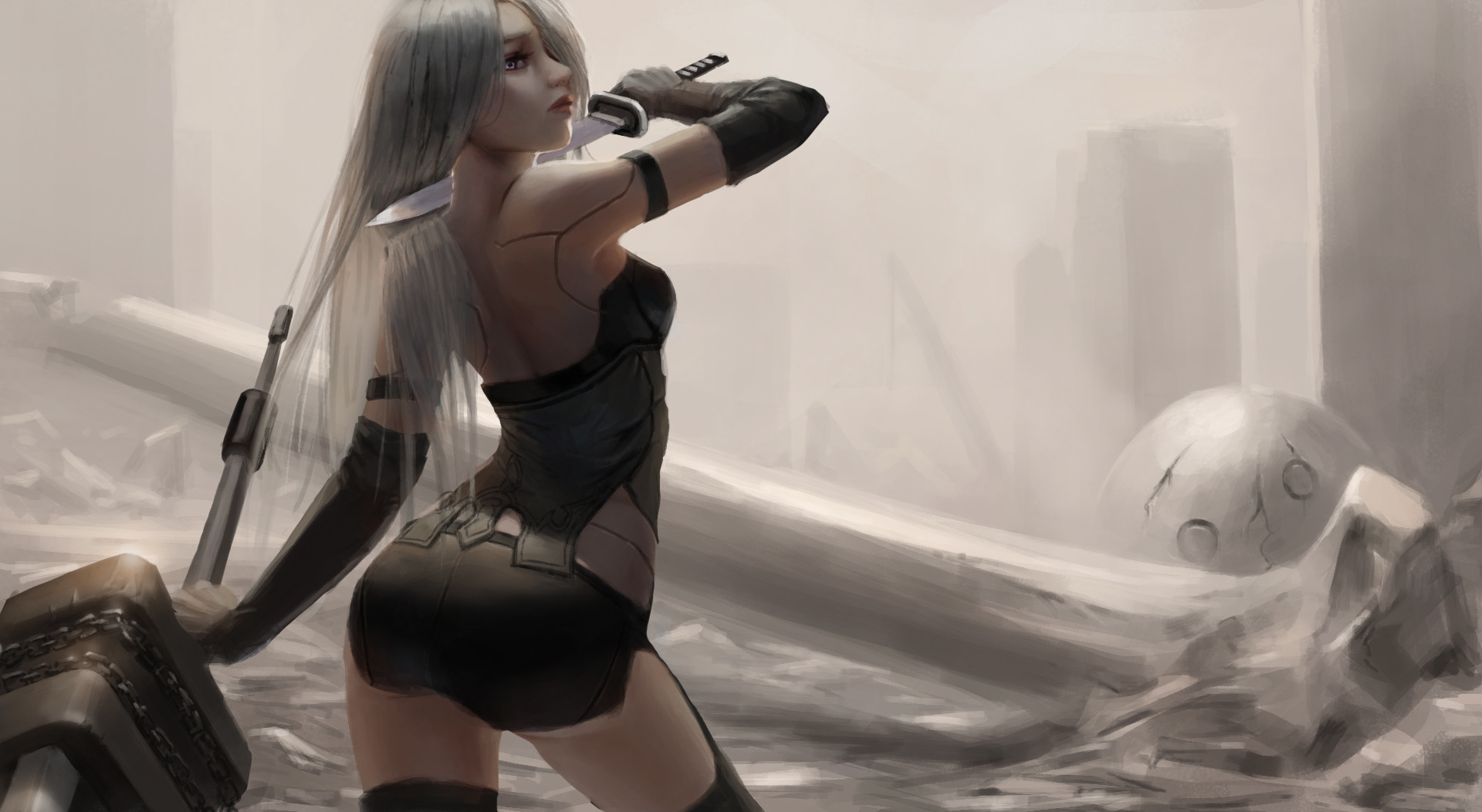 Nier Automata Fantasy Game Art Full Hd Wallpaper: Nier Automata Fan Art, HD Games, 4k Wallpapers, Images