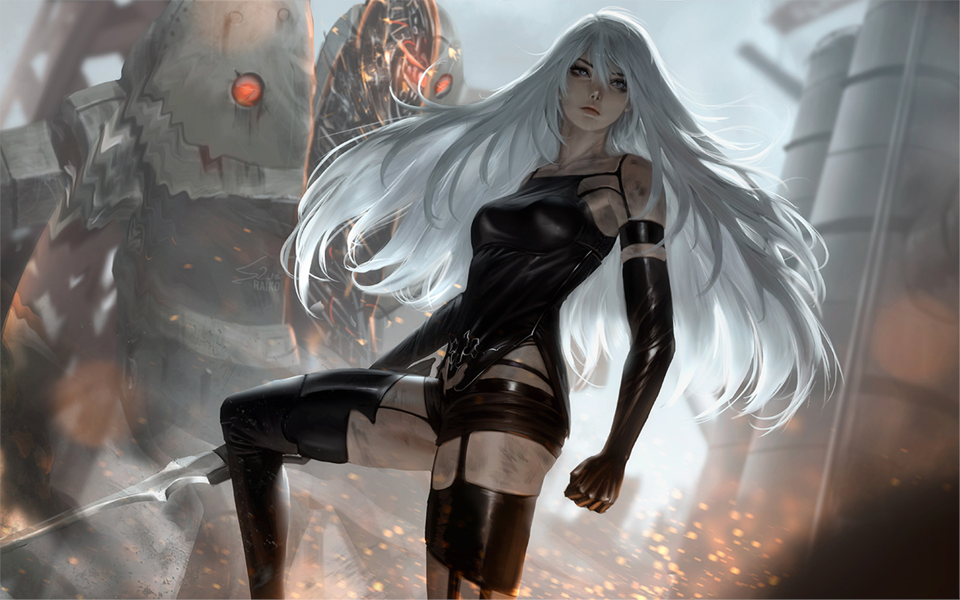 Nier Automata Fantasy Game Art Full Hd Wallpaper: NieR Automata YoRHa Type A No 2, HD Games, 4k Wallpapers