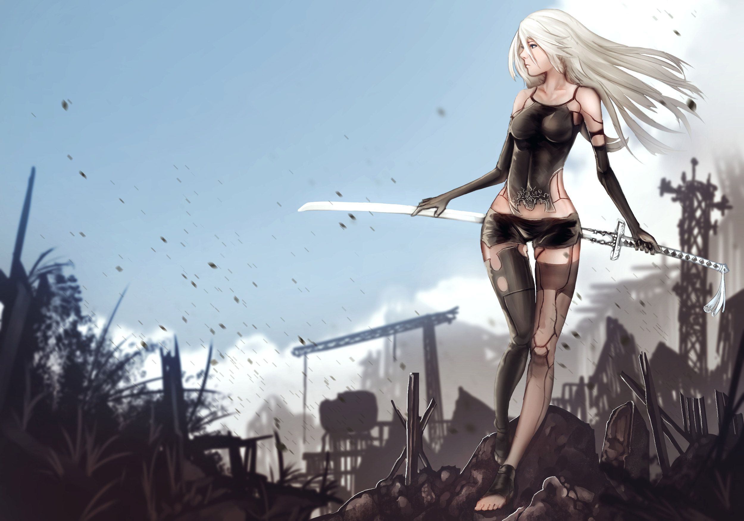 Nier Automata Fantasy Game Art Full Hd Wallpaper: NieR Automata YoRHa Type A No2, HD Games, 4k Wallpapers
