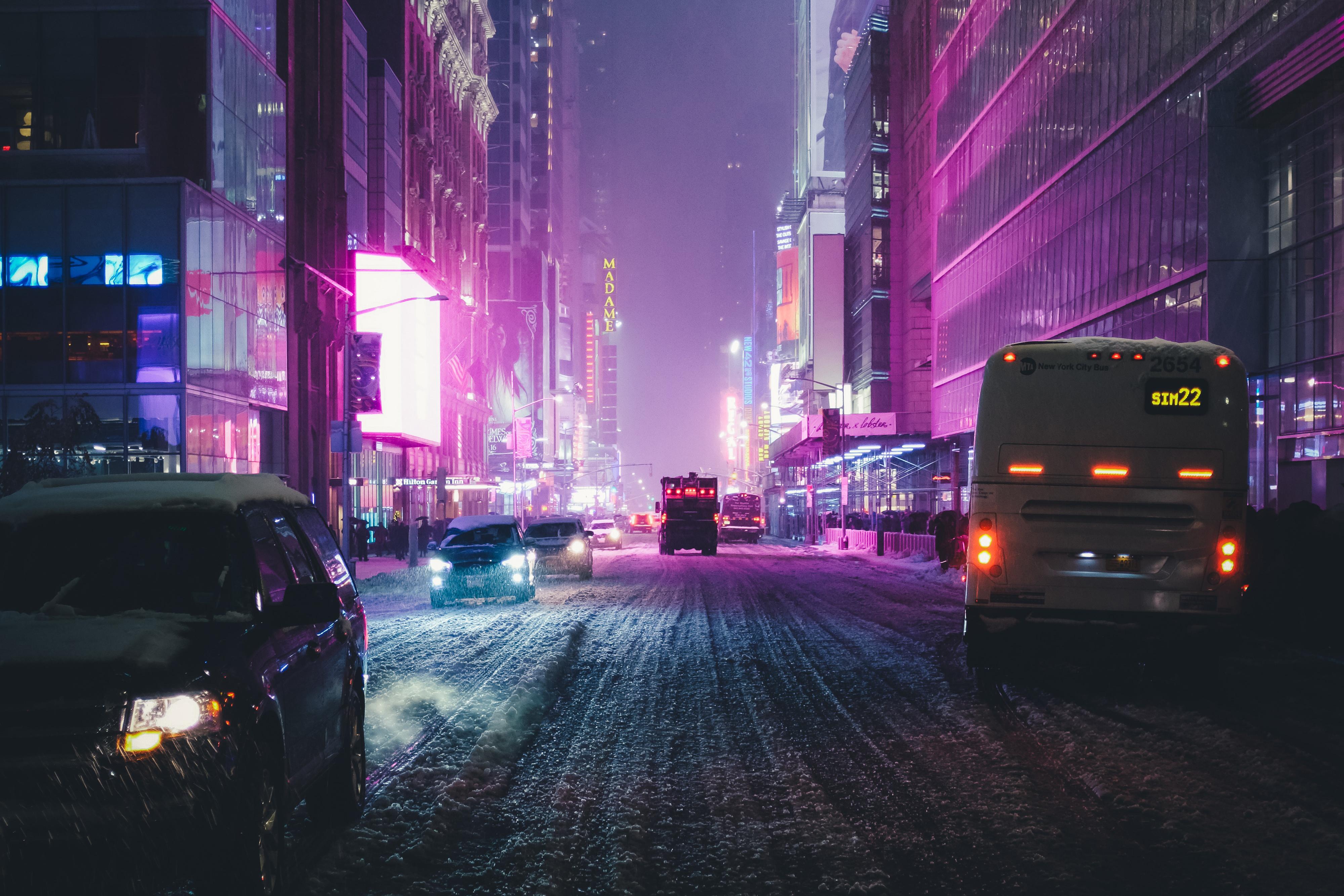 Night City Street Neon Lights 4k Hd Photography 4k
