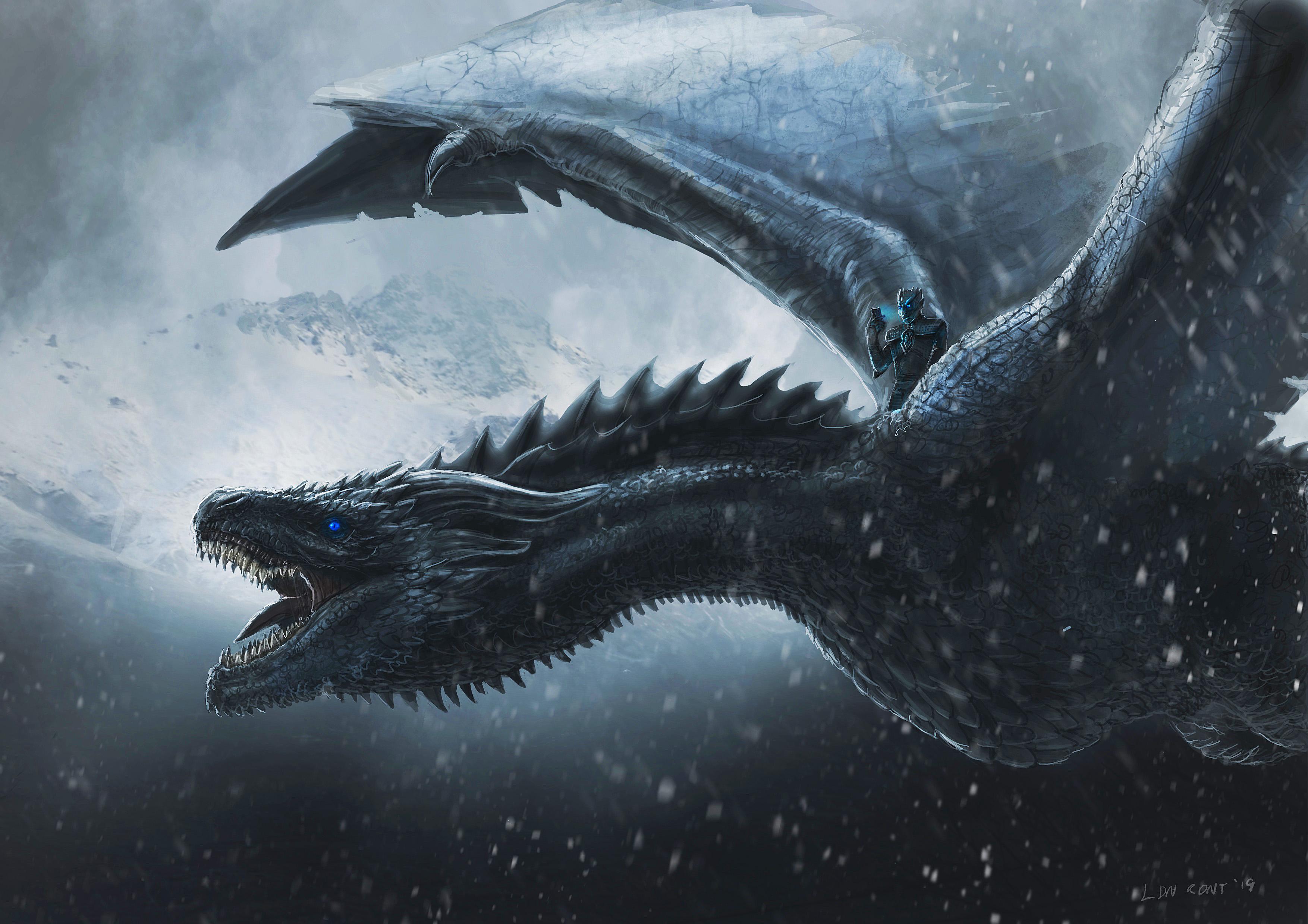 1400x900 Night King Dragon 4k 1400x900 Resolution Hd 4k