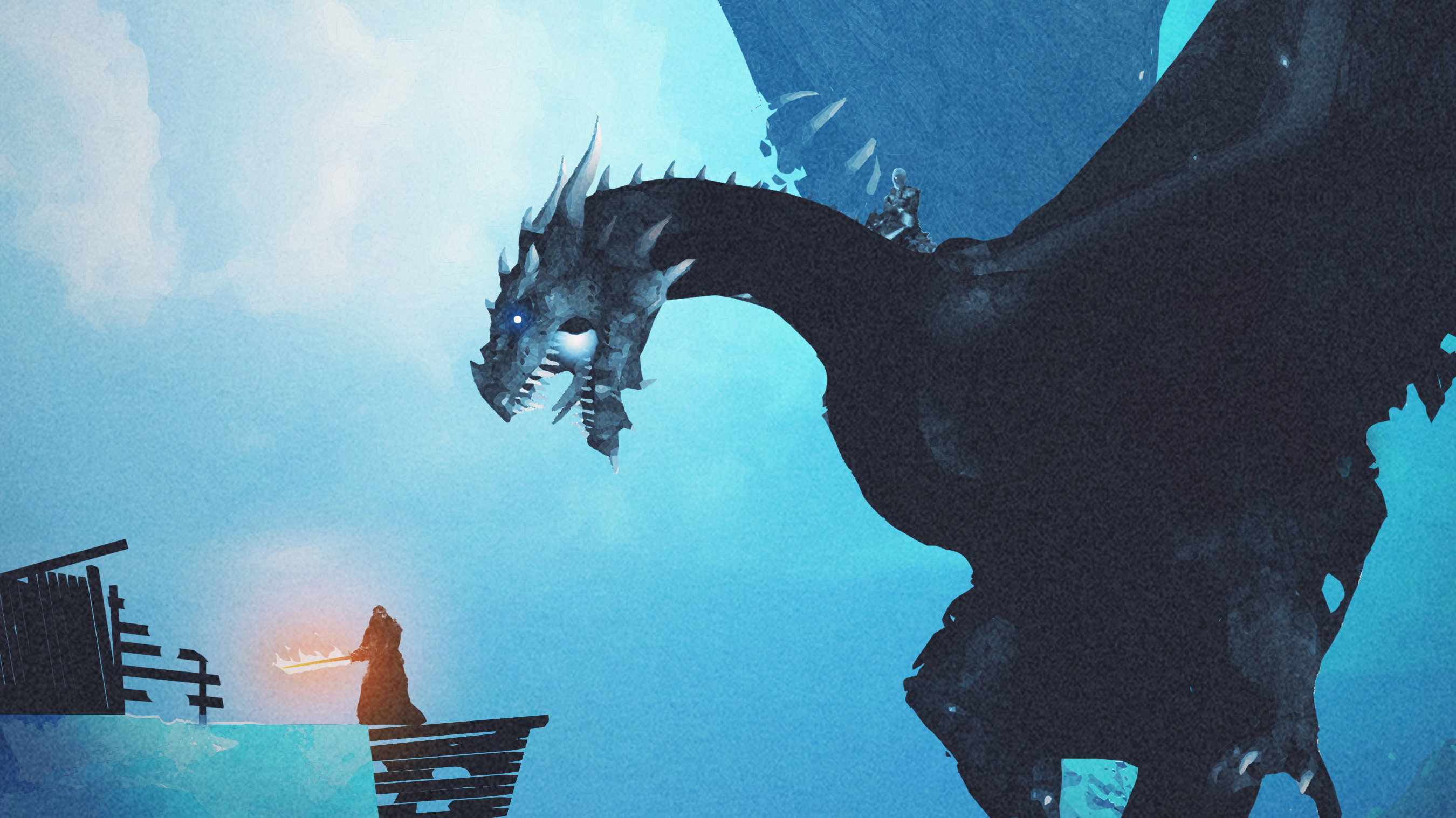 Night King Dragon Vs Lord Of Light, HD Tv Shows, 4k
