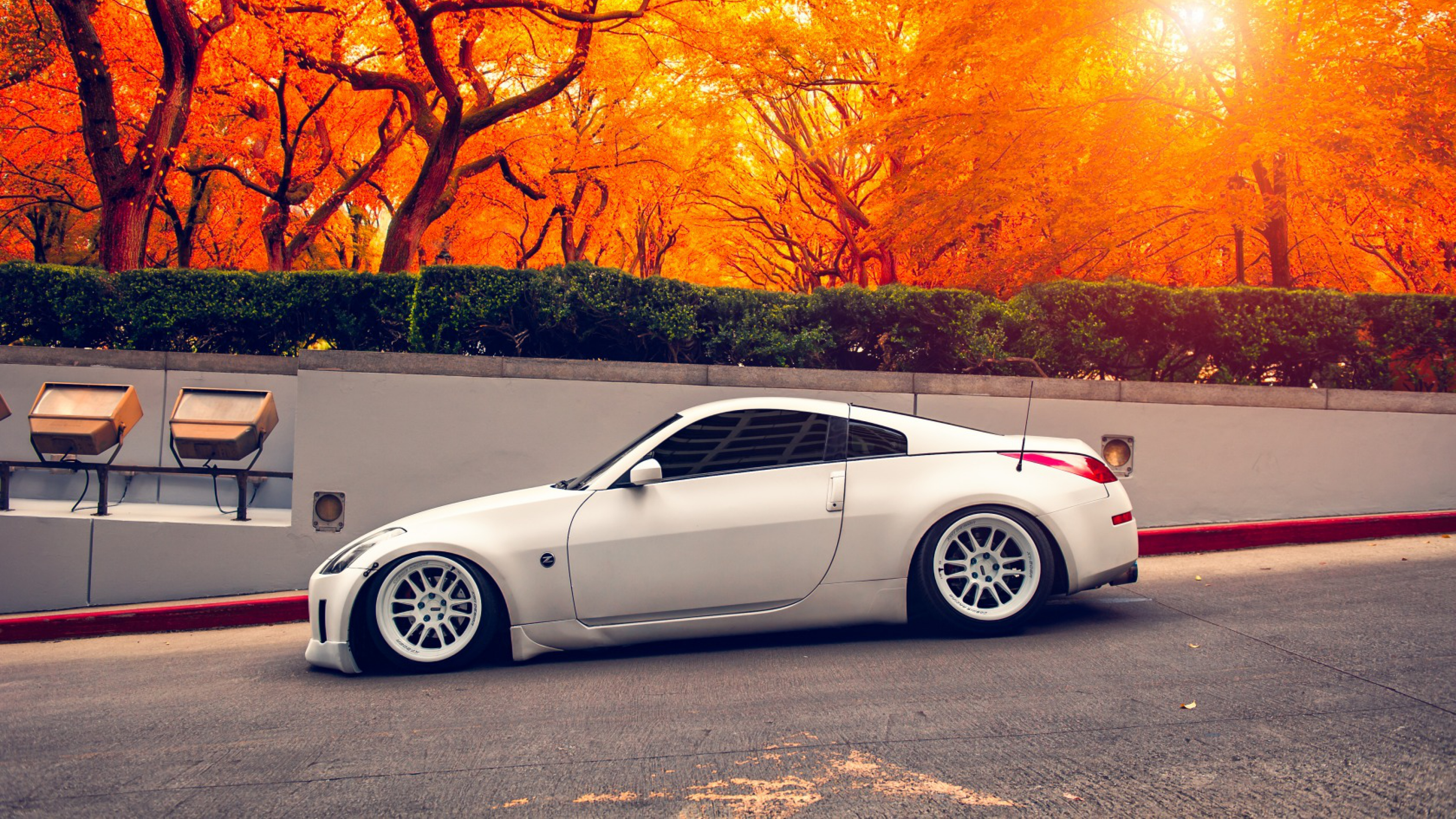 nissan 350z autumn hd cars 4k wallpapers images. Black Bedroom Furniture Sets. Home Design Ideas