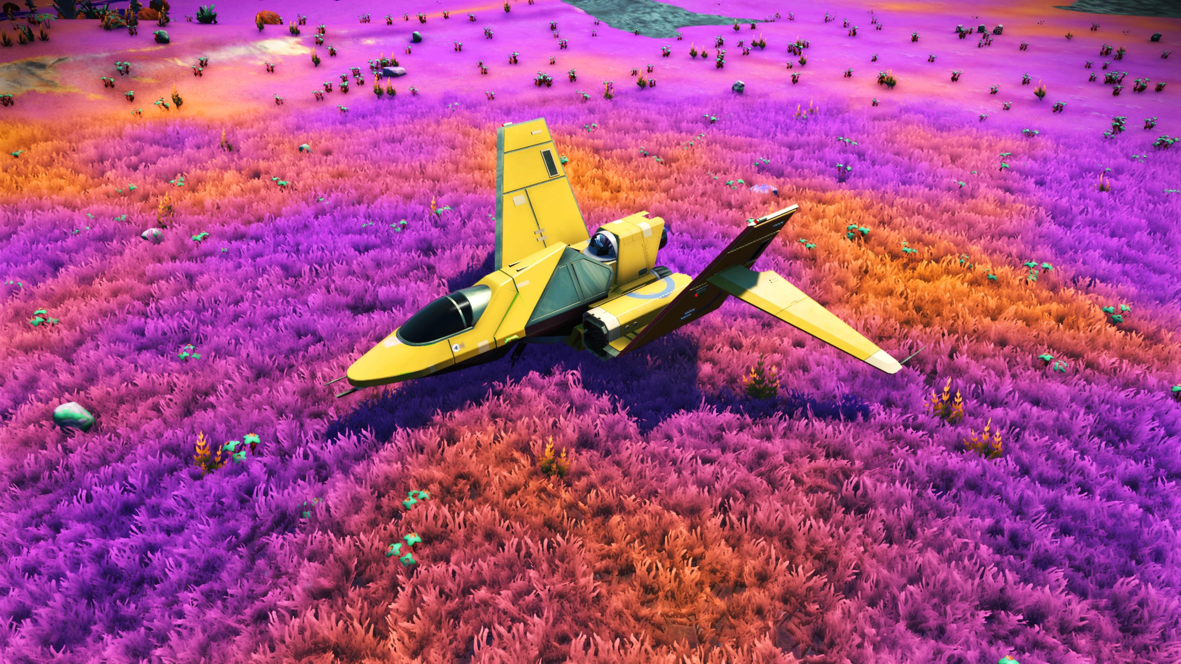 No Man S Sky 4k Wallpaper: No Mans Sky Game Plane Colorful Fields 4k, HD Games, 4k