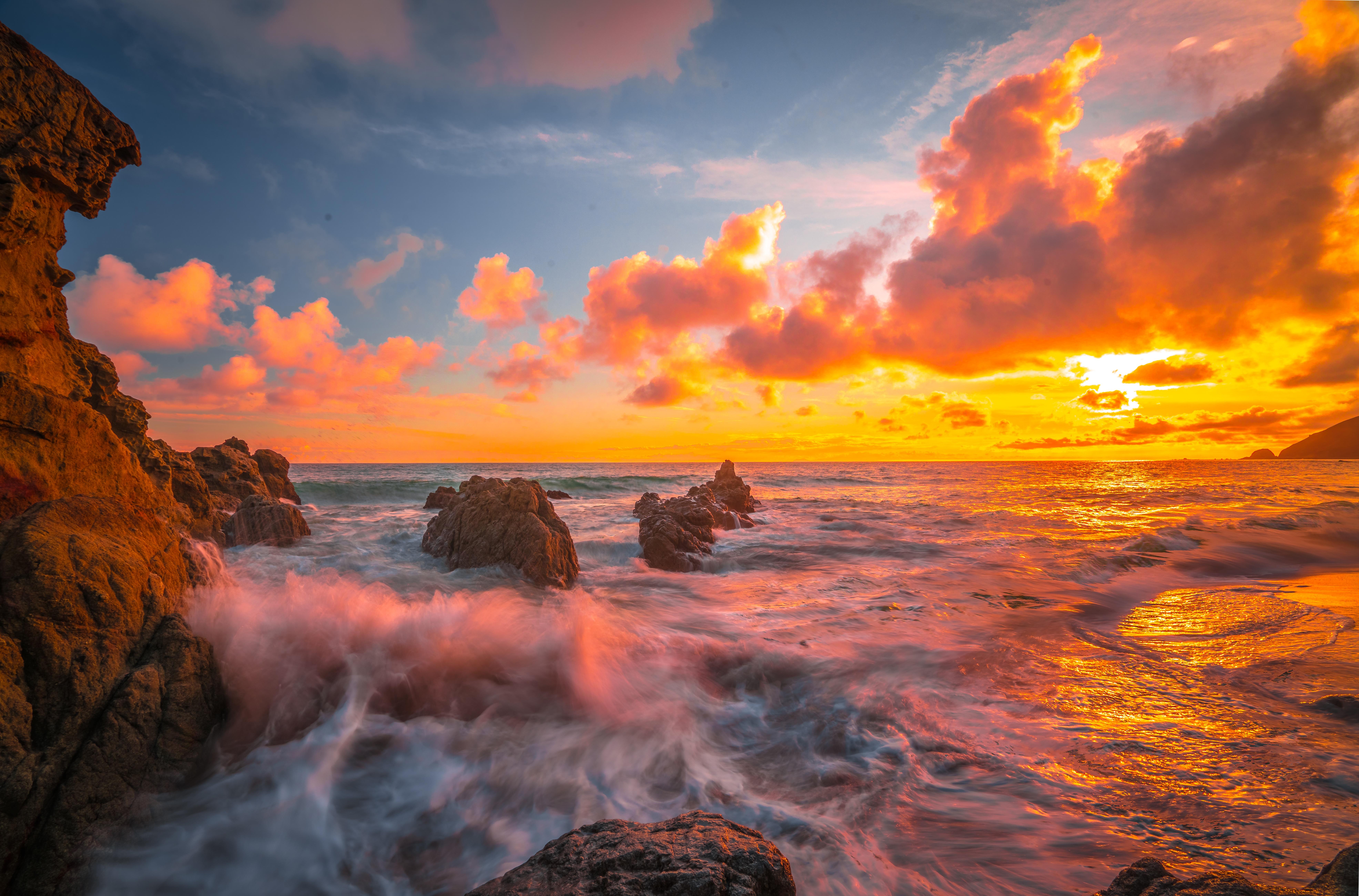 8k Animal Wallpaper Download: 3840x2160 Ocean Sunset 8k 4k HD 4k Wallpapers, Images