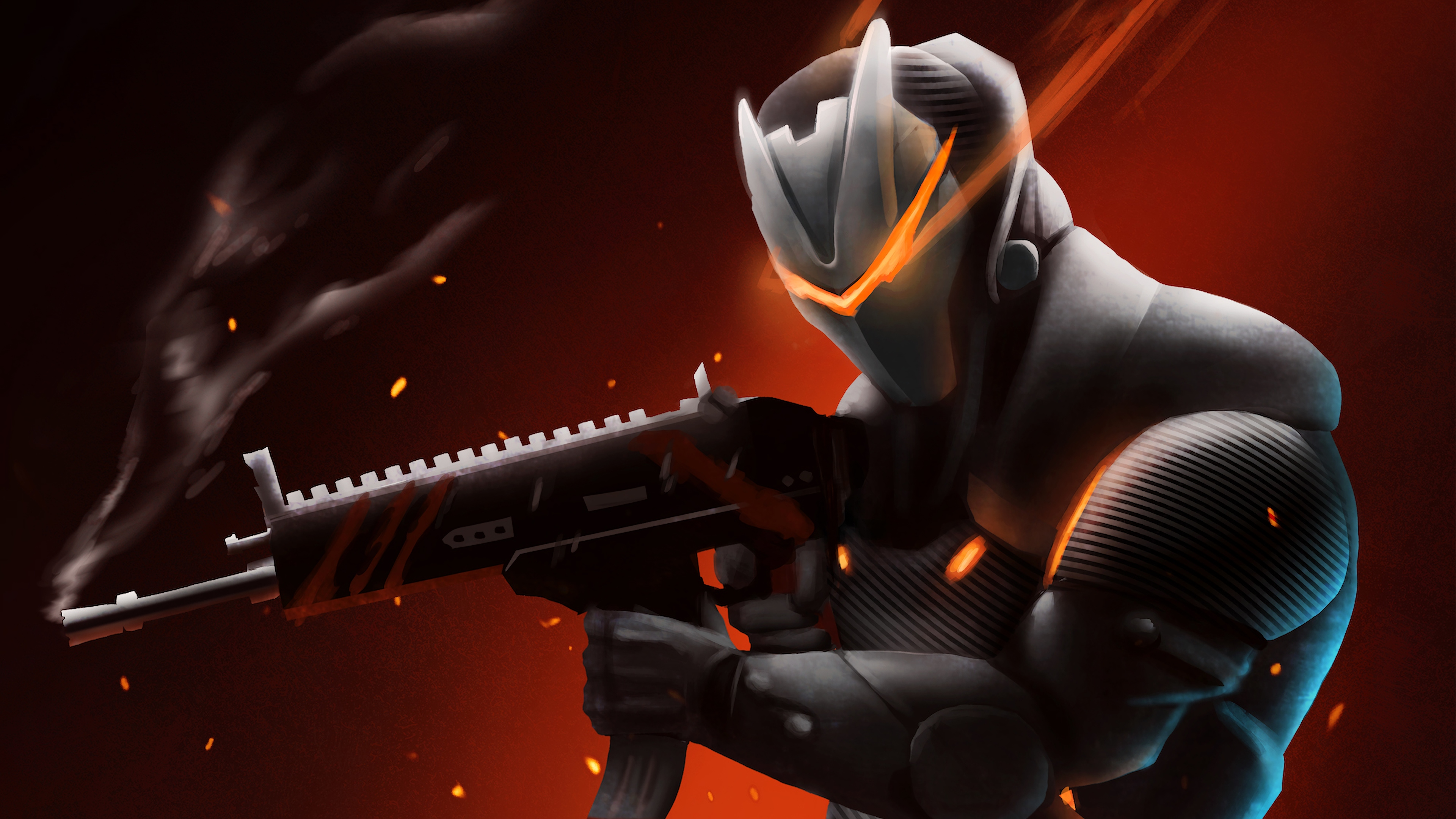 fortnite wallpaper 1440x900: Omega With Rifle Fortnite Battle Royale, HD Games, 4k