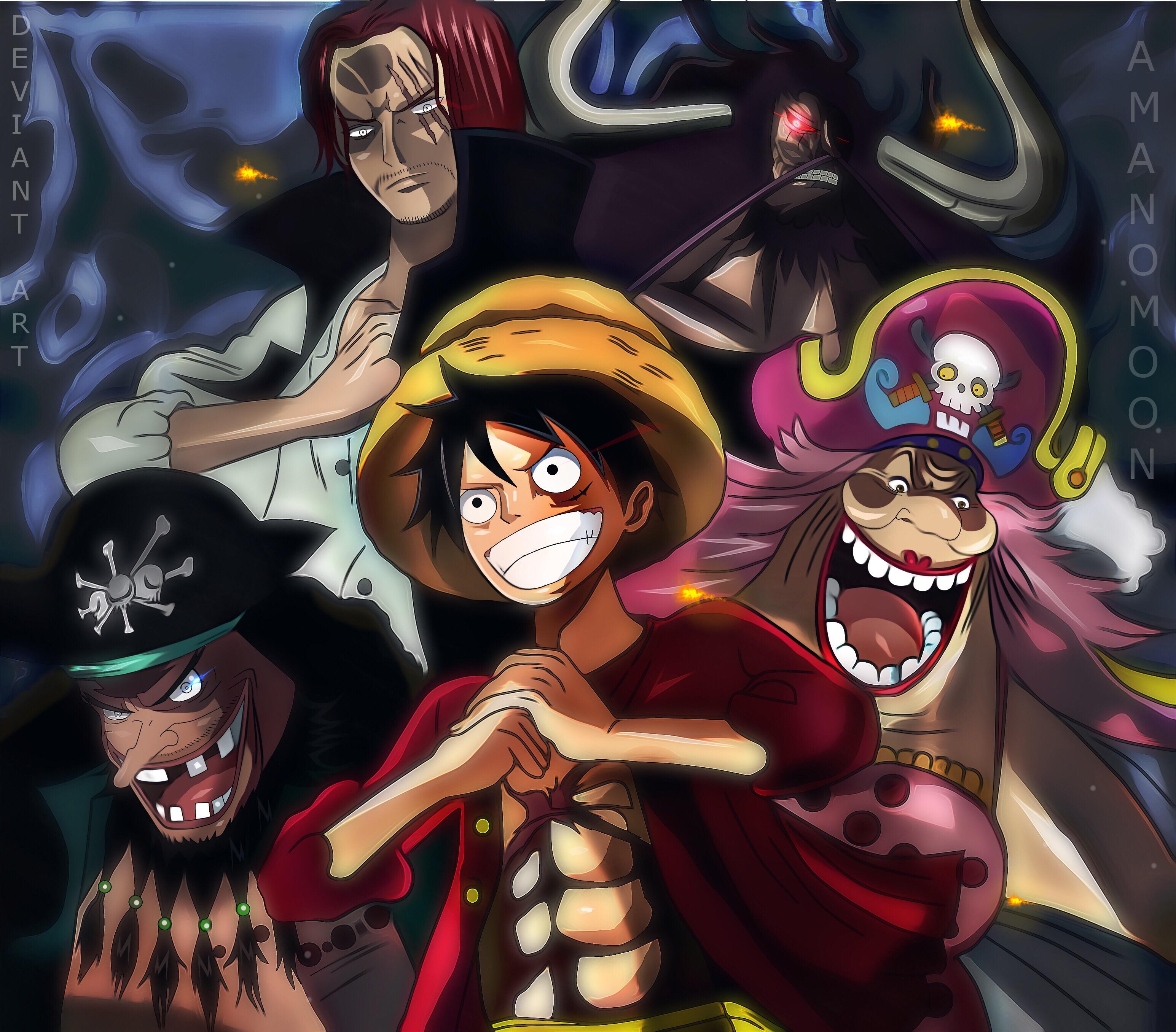 One Piece Charlotte Linlin Kaido Marshall D Teach Monkey D