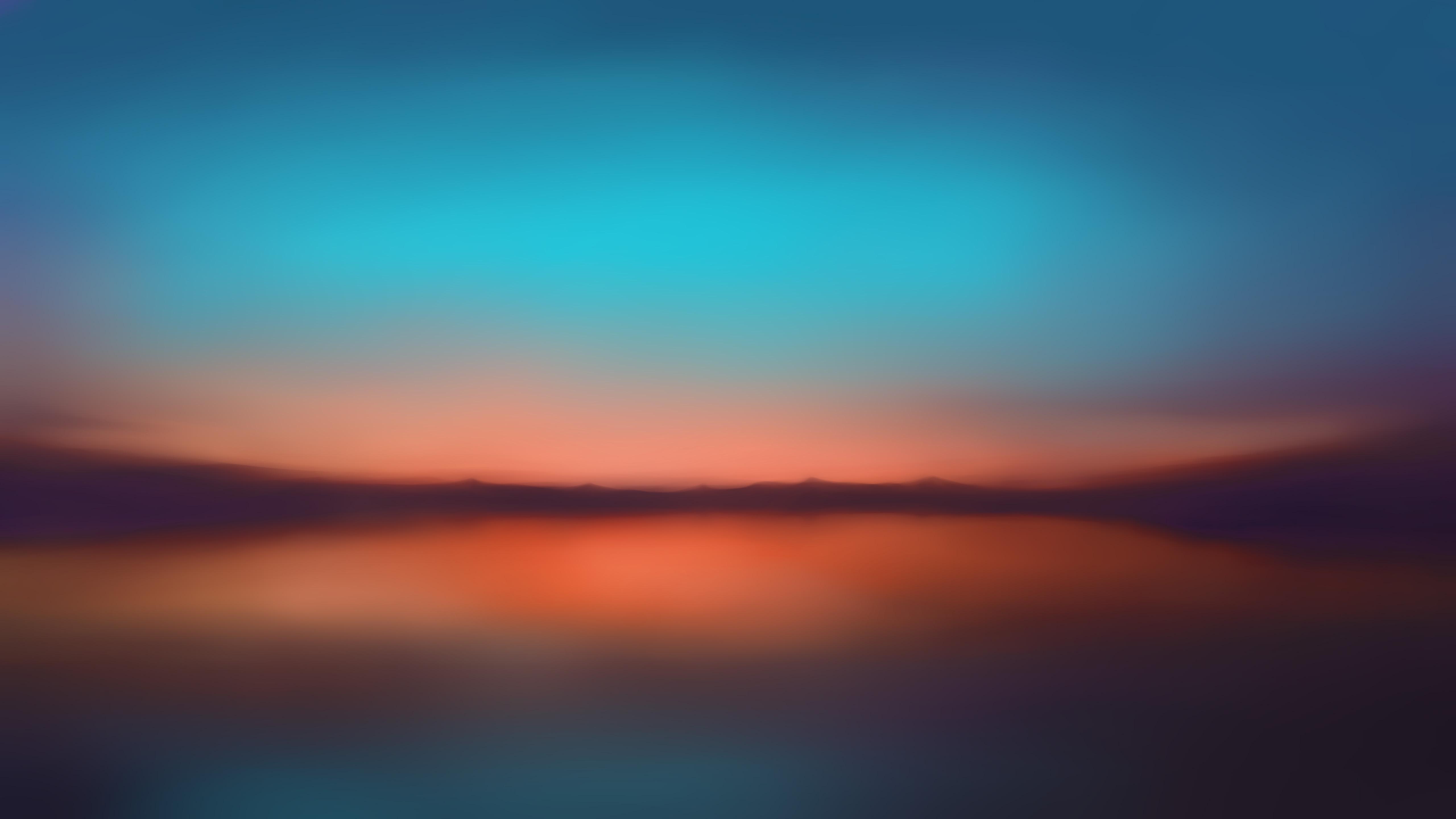 Orange Sunset Blur Minimalist 5k Hd Artist 4k Wallpapers