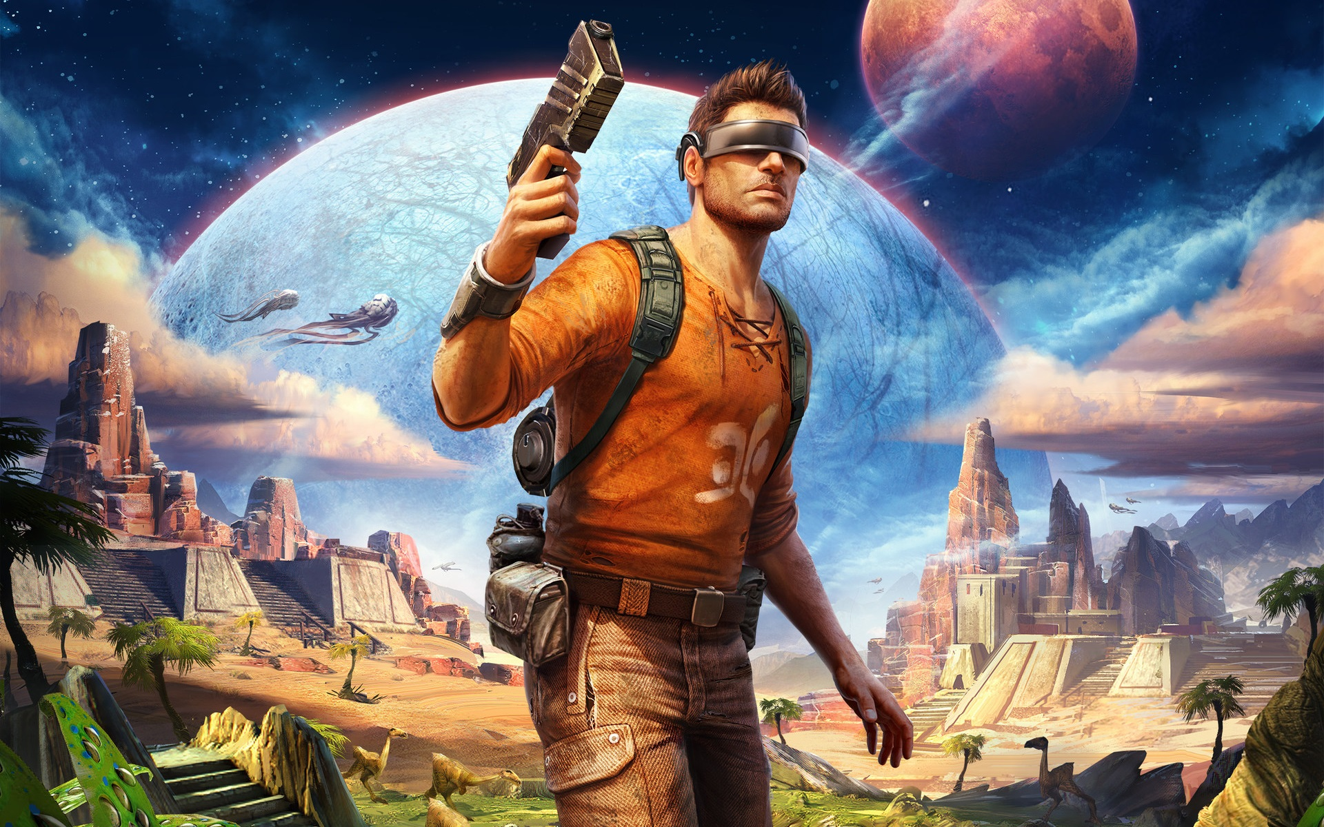 Image result for outcast second contact wallpaper