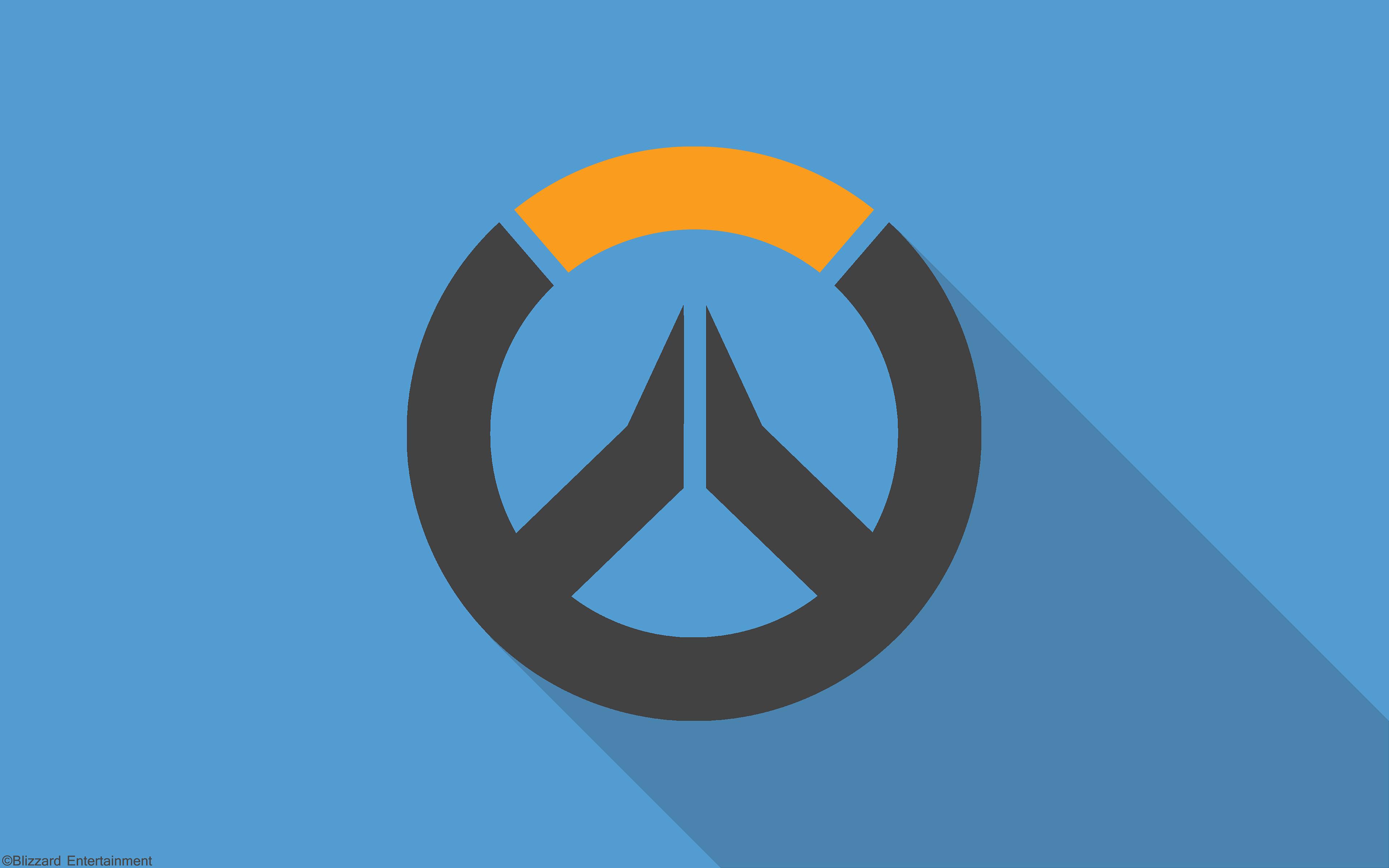 Overwatch material design logo hd games 4k wallpapers for Material design wallpaper 4k