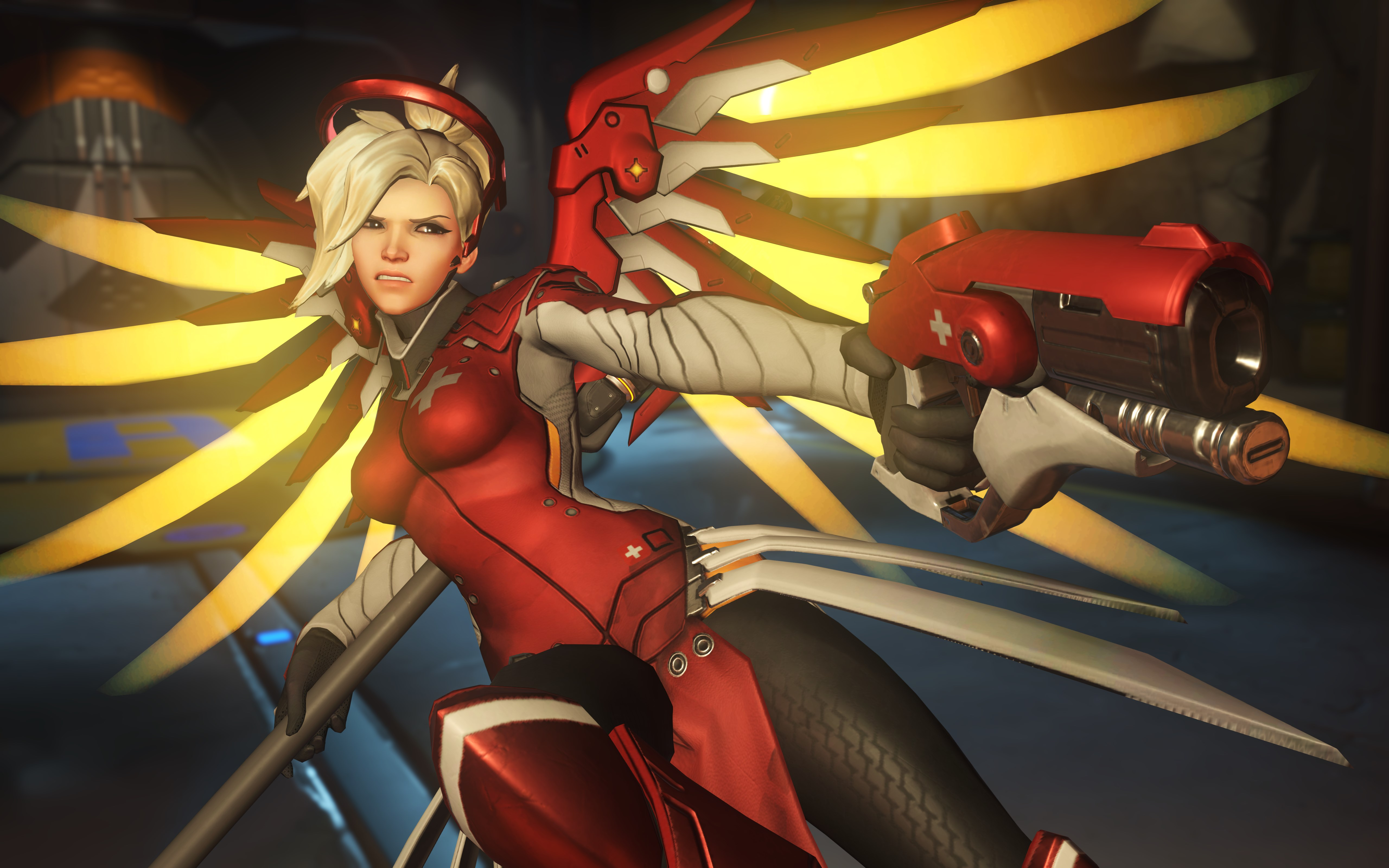 Overwatch mercy hd games 4k wallpapers images - Overwatch christmas wallpaper ...