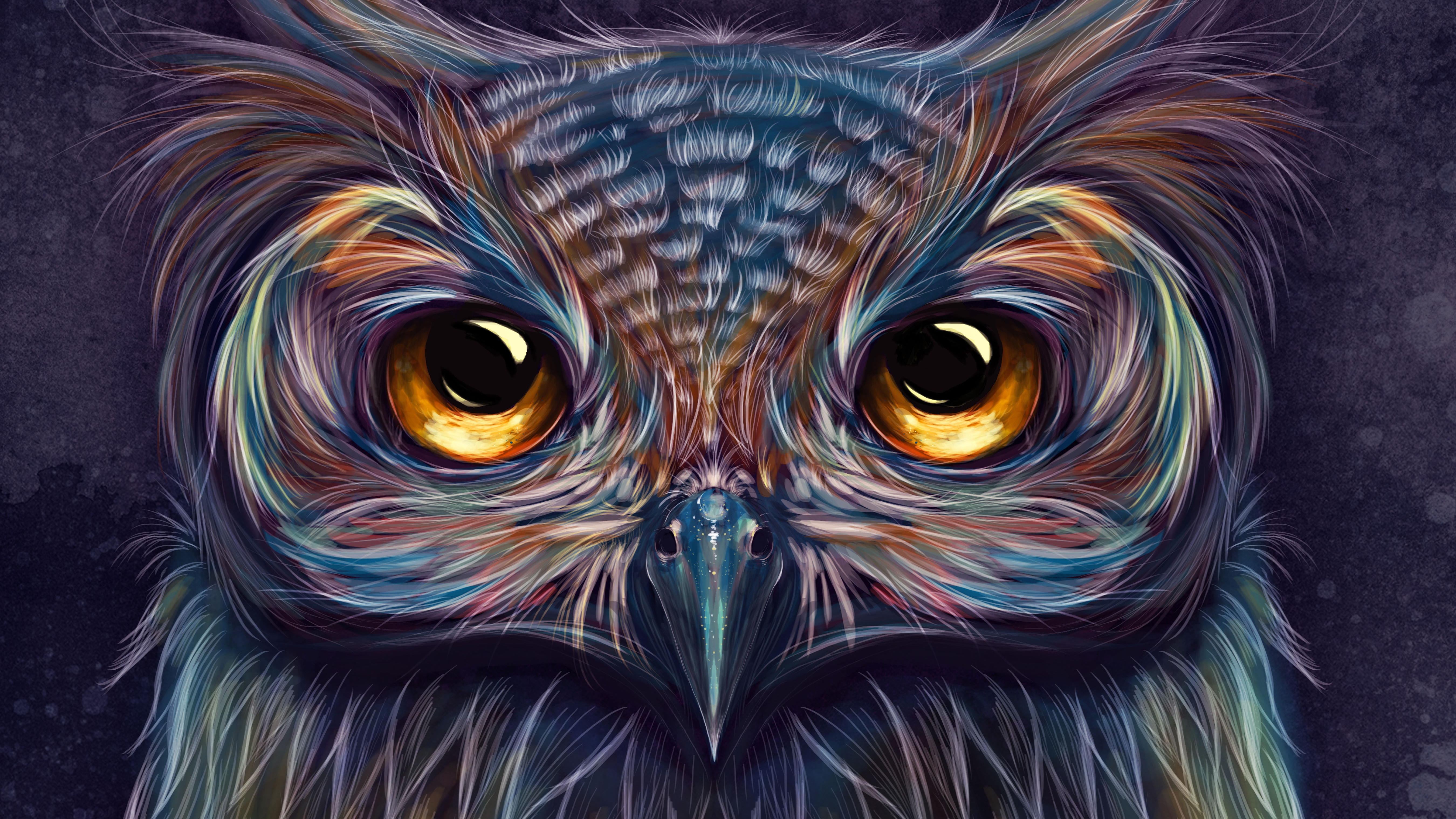 Owl Colorful Art 5k, HD Artist, 4k Wallpapers, Images ...  Owl Colorful Ar...