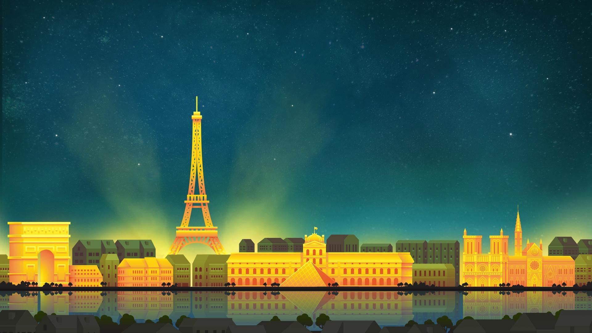 Paris Eiffel Tower Minimalist Hd Artist 4k Wallpapers