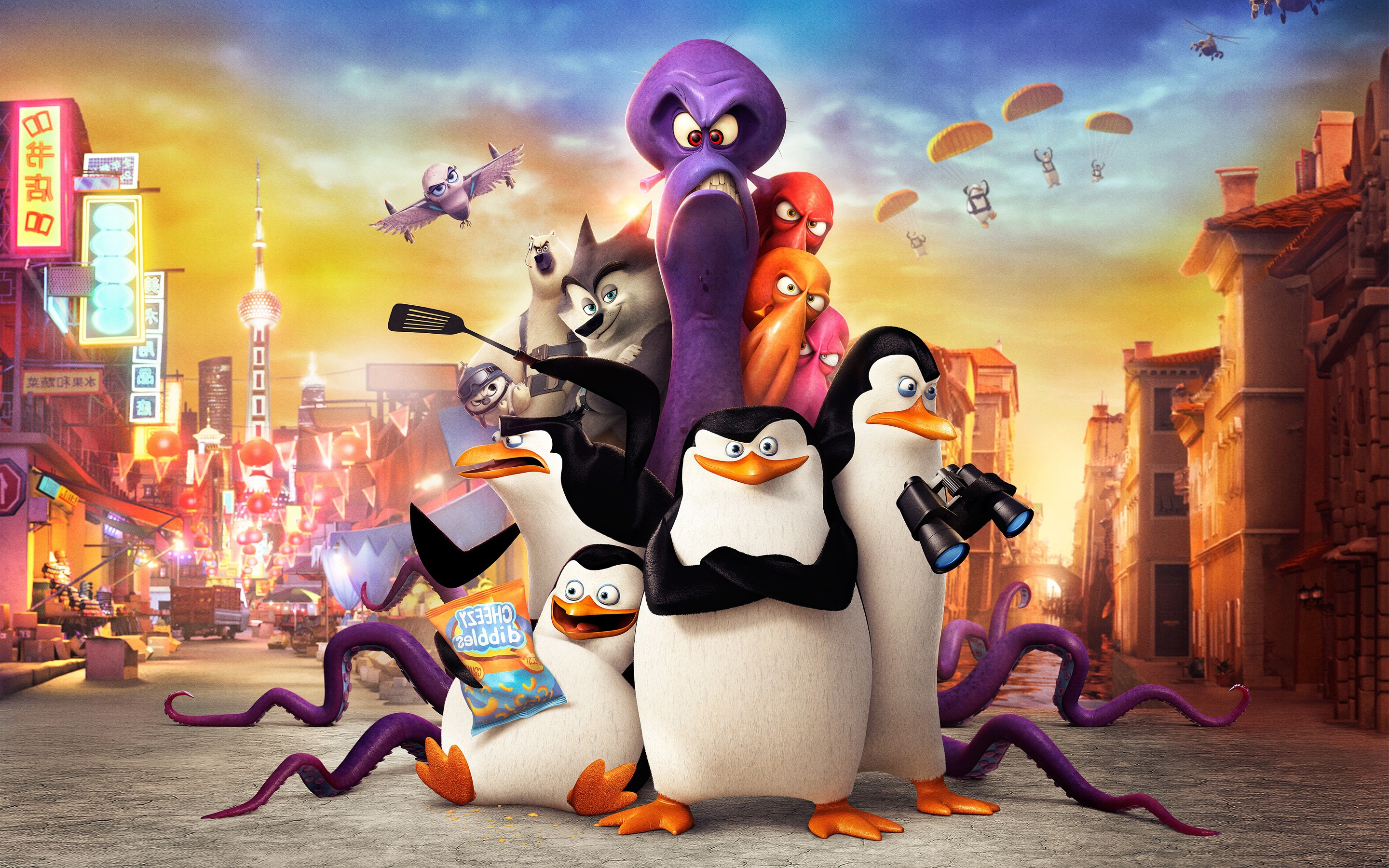 penguins of madagascar movie, hd movies, 4k wallpapers, images