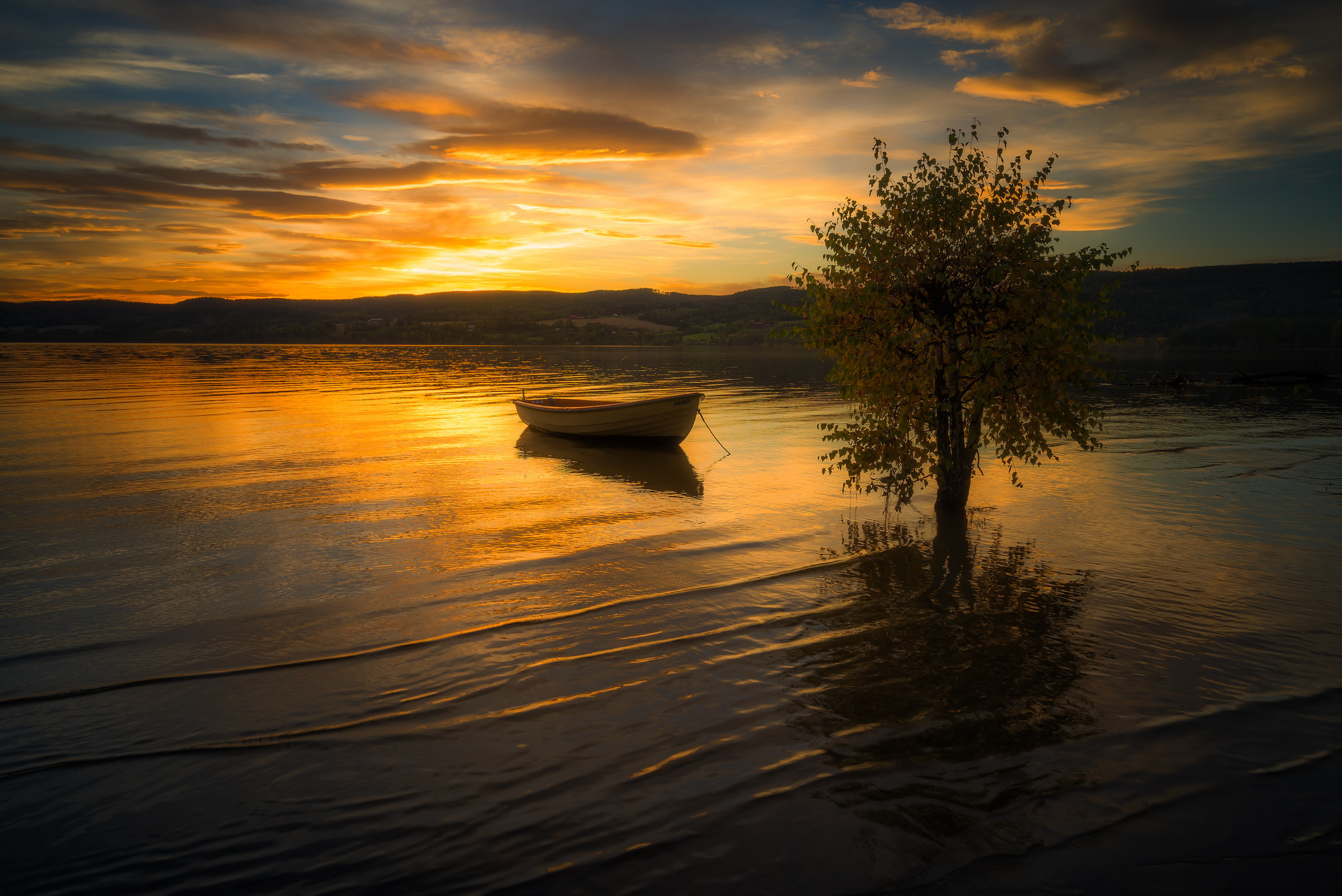Wallpaper Fisherman Sunset Boat Hd Creative Graphics: Photography Lake Boat, HD Photography, 4k Wallpapers