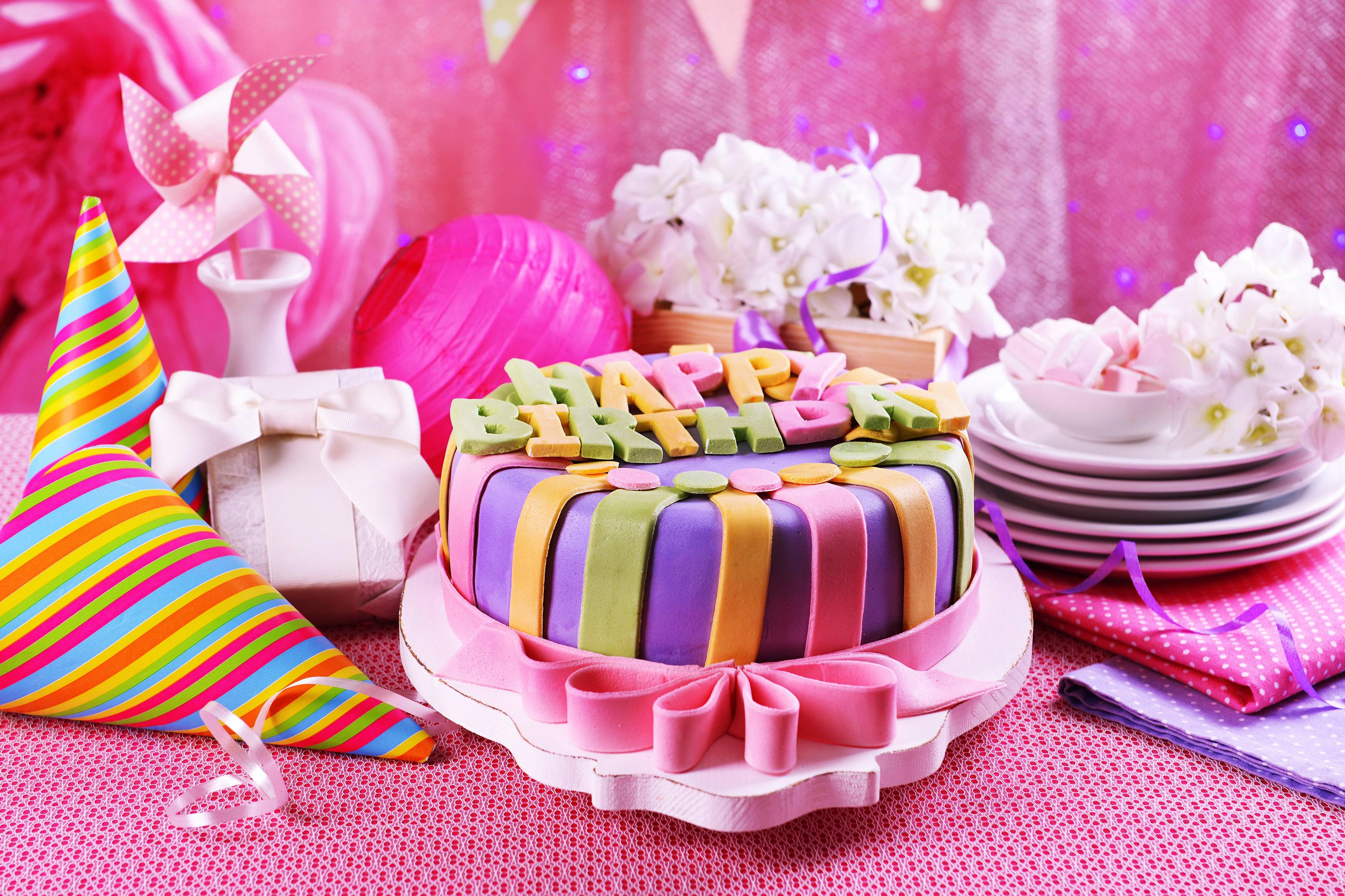 2048x1152 Pink Birthday Cake 2048x1152 Resolution Hd 4k Wallpapers