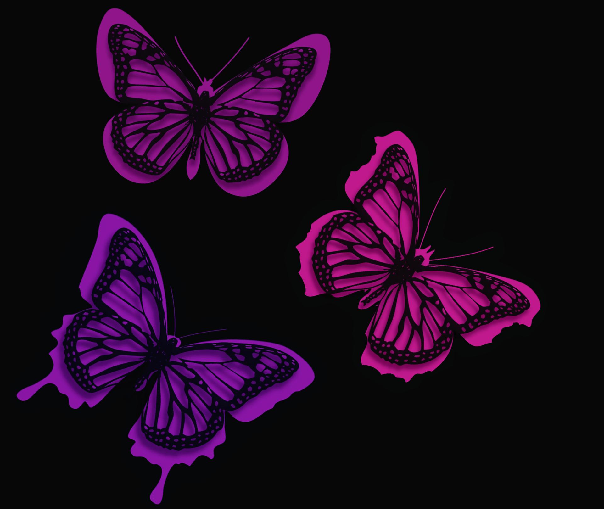 Pink Butterfly Wallpaper: Pink Butterflies Artistic, HD Artist, 4k Wallpapers