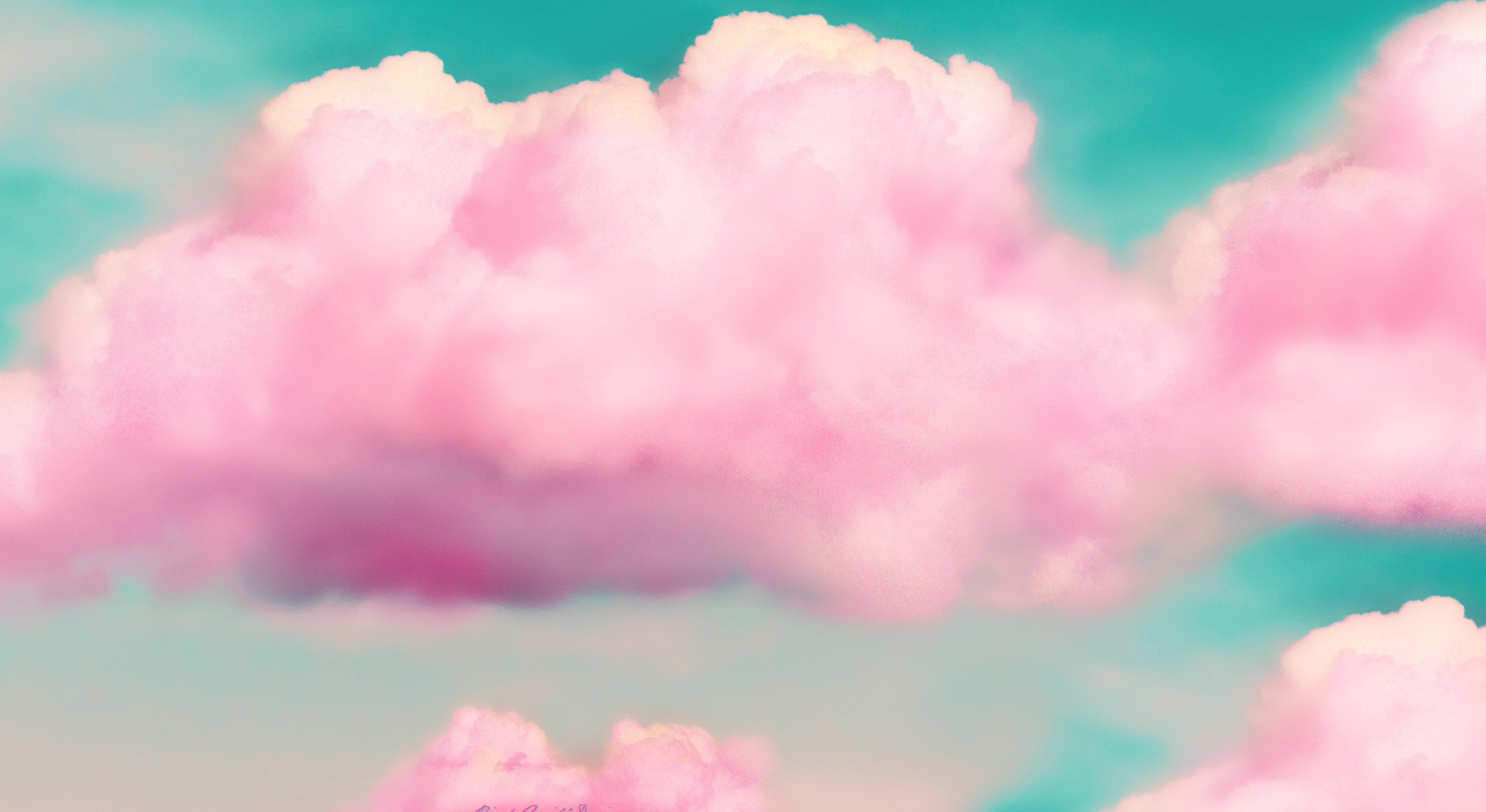 Pink clouds 3d hd artist 4k wallpapers images - Pink wallpaper 4k ...
