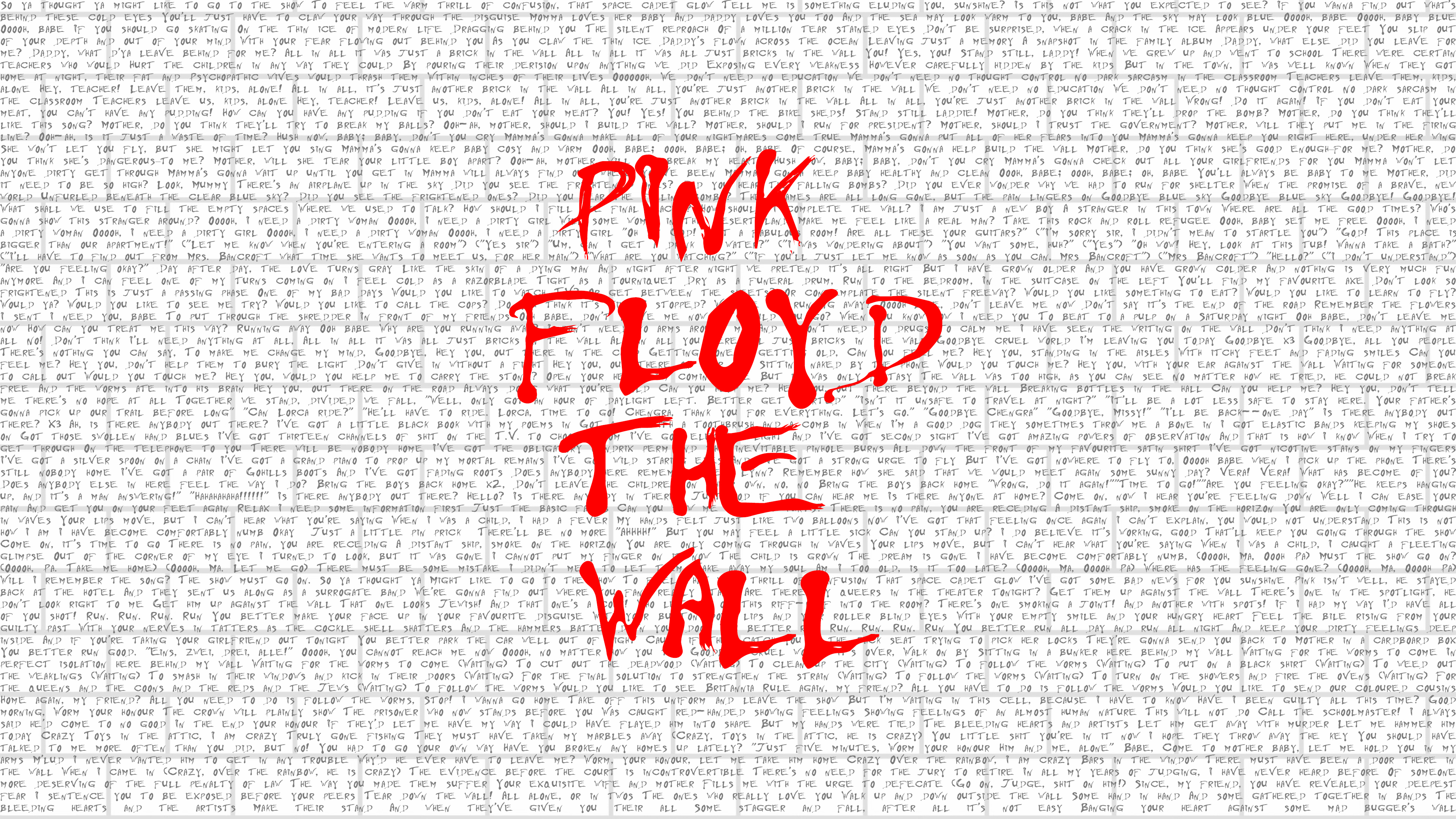 750x1334 Pink Floyd The Wall Typography 4k Iphone 6 Iphone