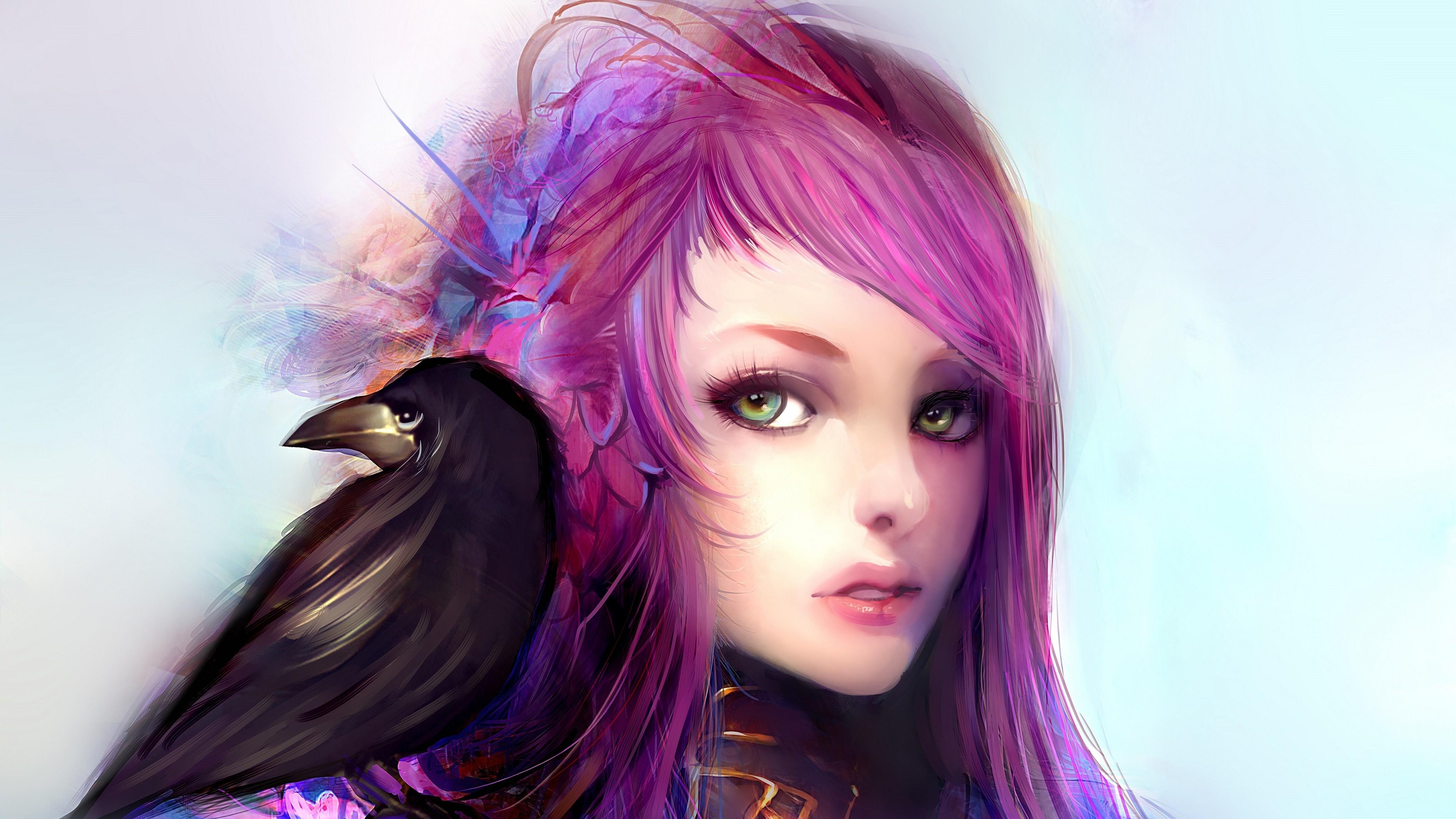 Pink Hair Anime Girl Artwork Laptop HD