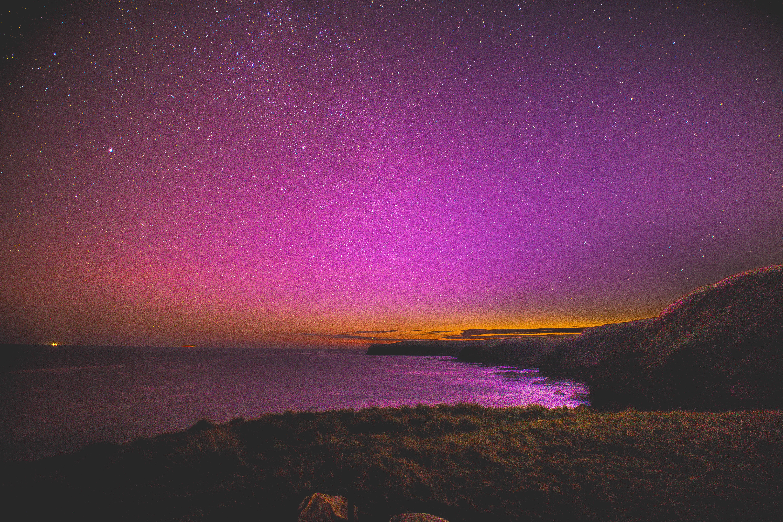 2880x1800 Pink Sky Full Of Stars Horizon Macbook Pro