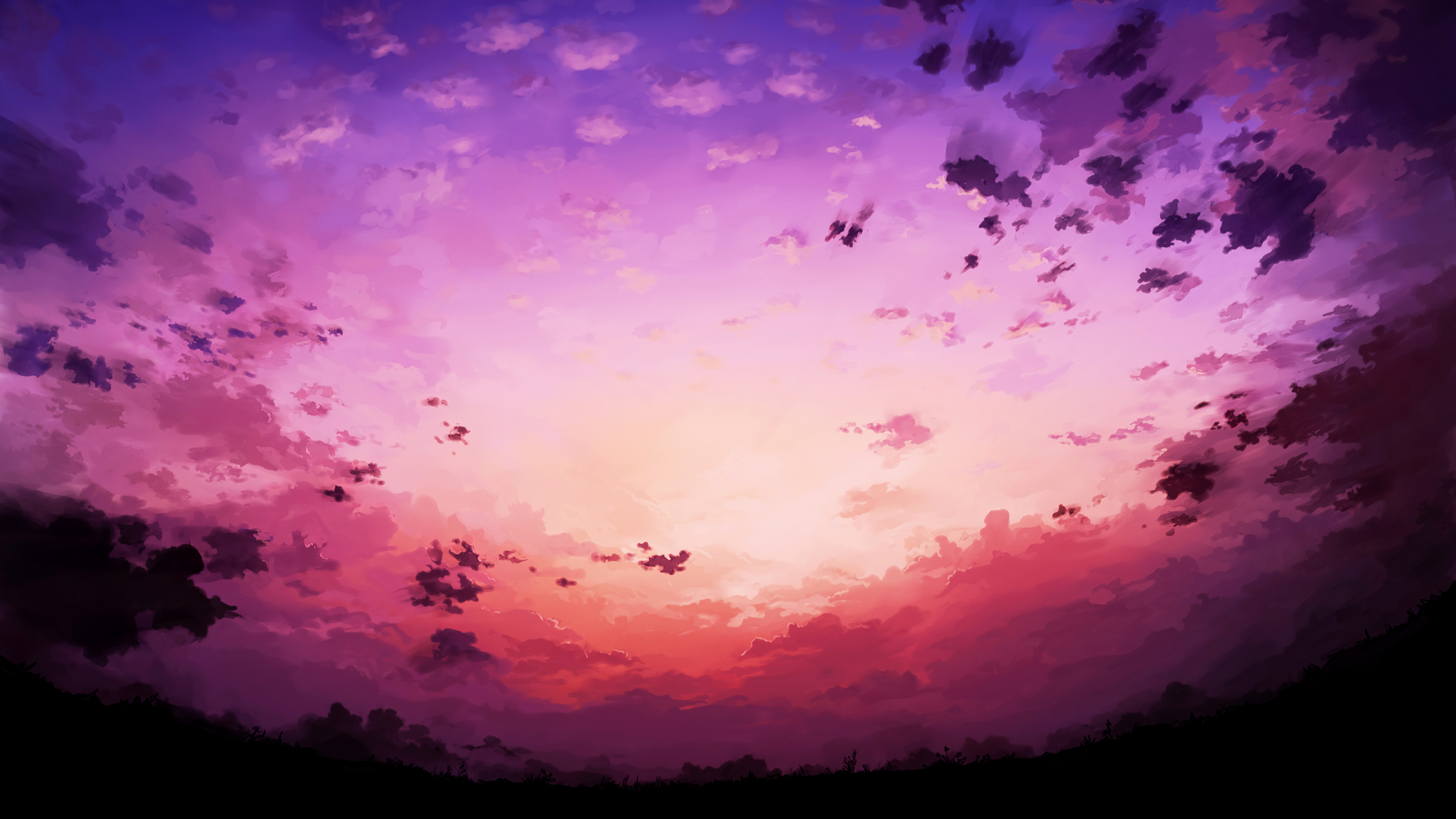 Pink Sky Horizon 4k Hd Artist 4k Wallpapers Images