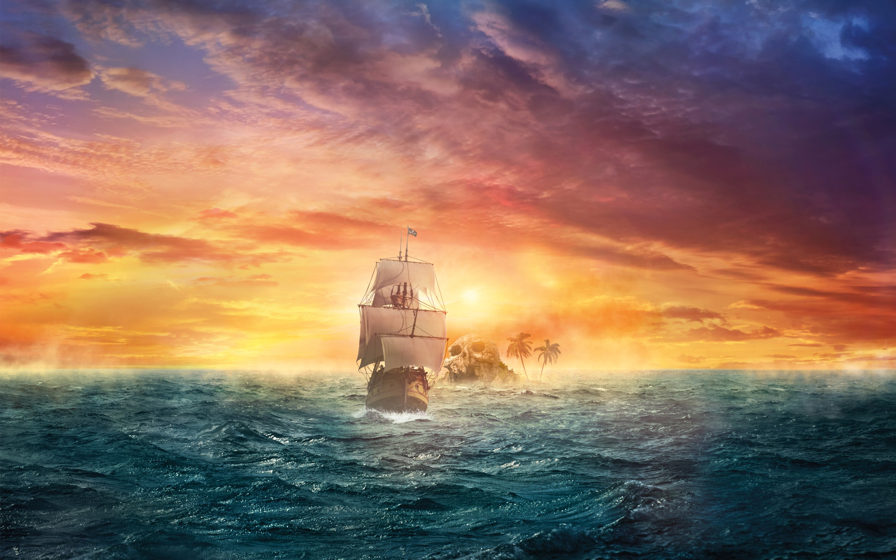 Pirate sail hd creative 4k wallpapers images - Anime pirate wallpaper ...